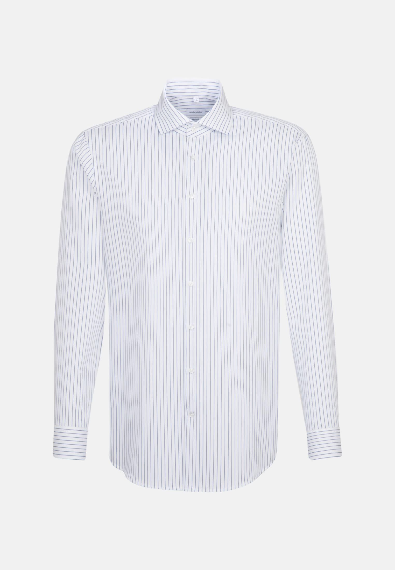 Bügelleichtes Cotele Business Hemd in Regular mit Kentkragen in Weiß |  Seidensticker Onlineshop