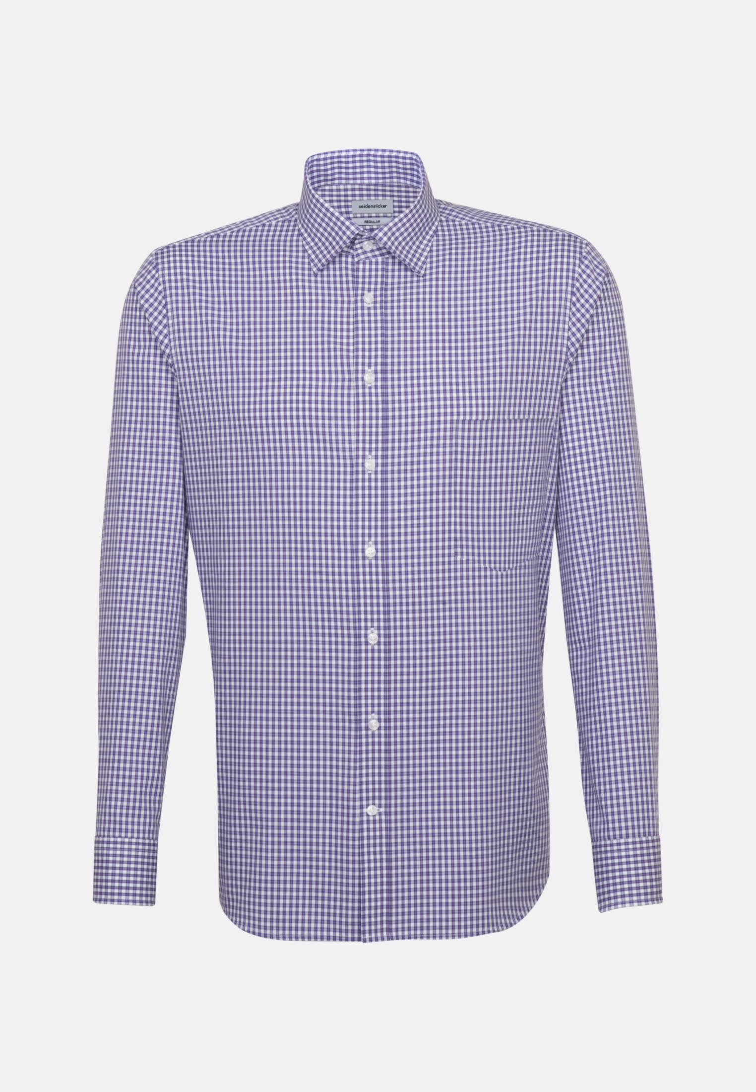 Non-iron Poplin Business Shirt in Regular with Covered-Button-Down-Collar in Purple |  Seidensticker Onlineshop