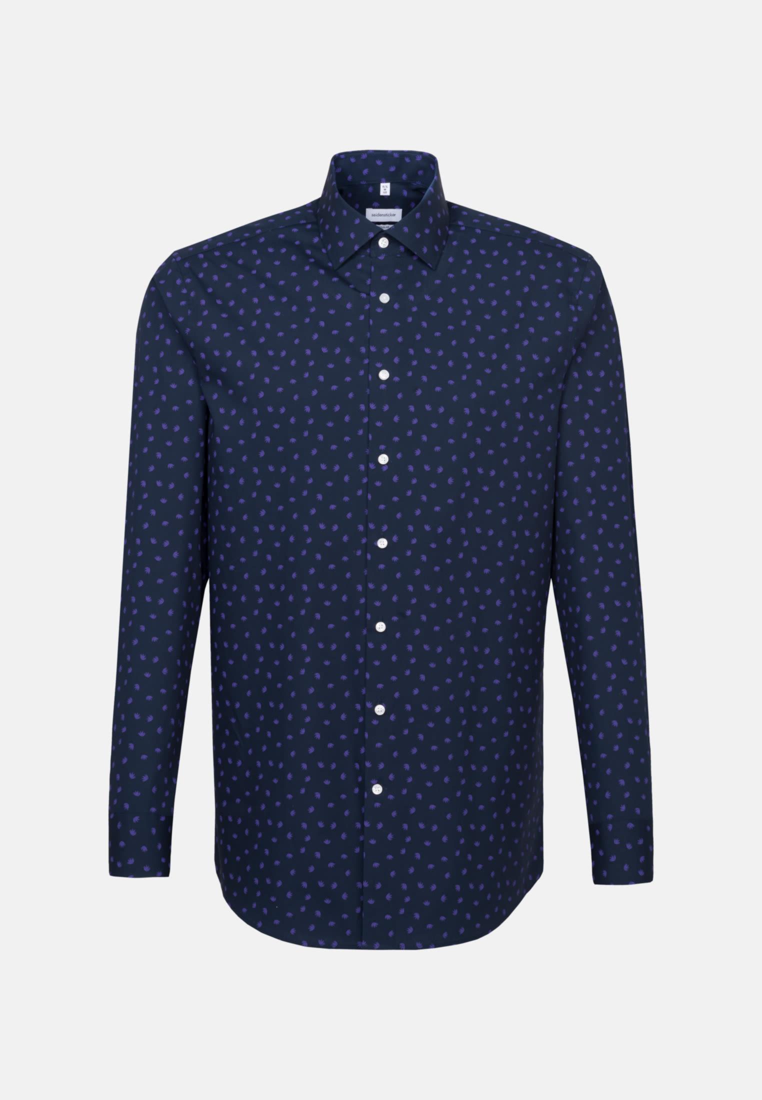 Easy-iron Poplin Business Shirt in Regular with Kent-Collar in Purple |  Seidensticker Onlineshop