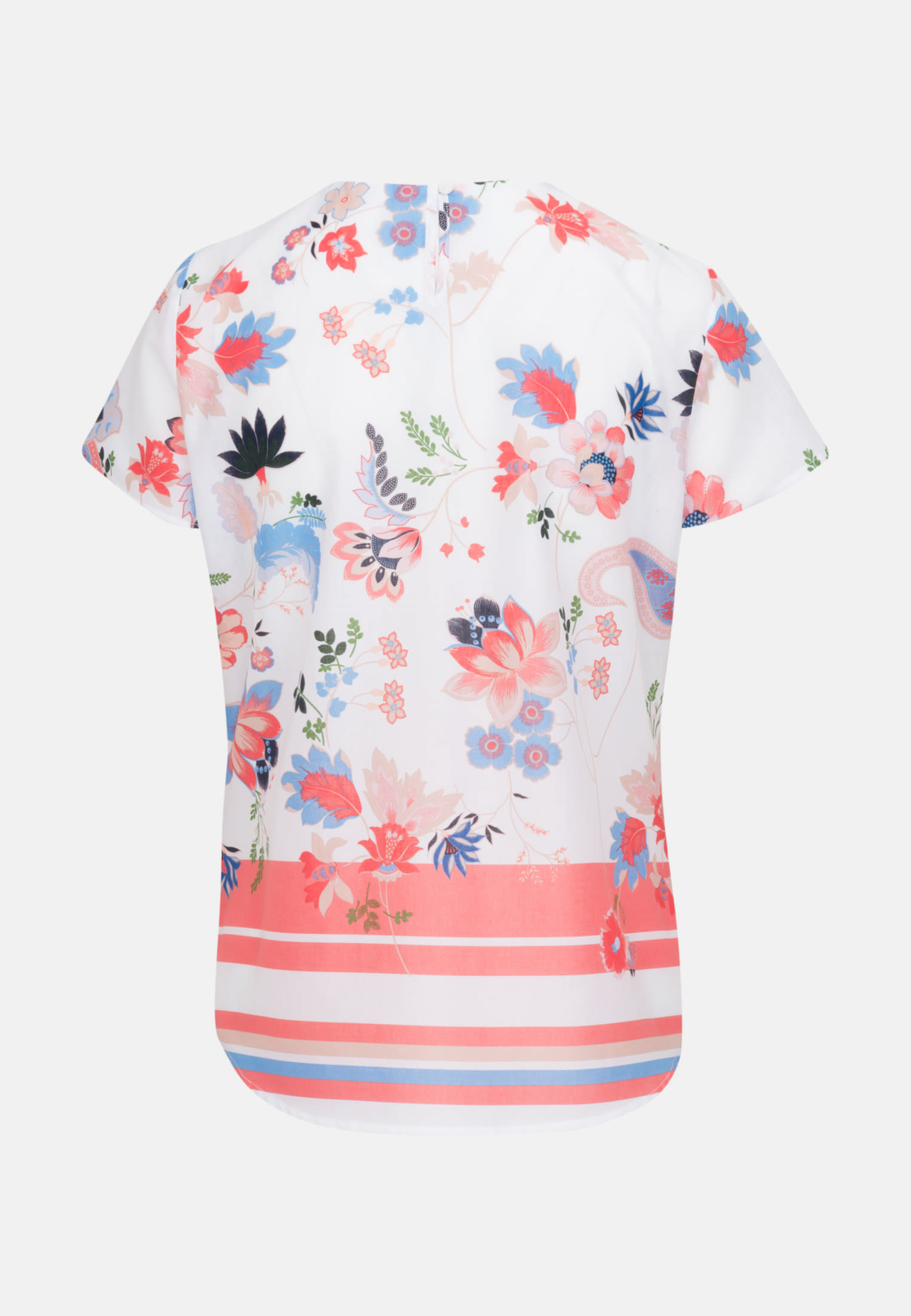 Kurzarm Popeline Shirtbluse aus 100% Baumwolle in Ecru |  Seidensticker Onlineshop