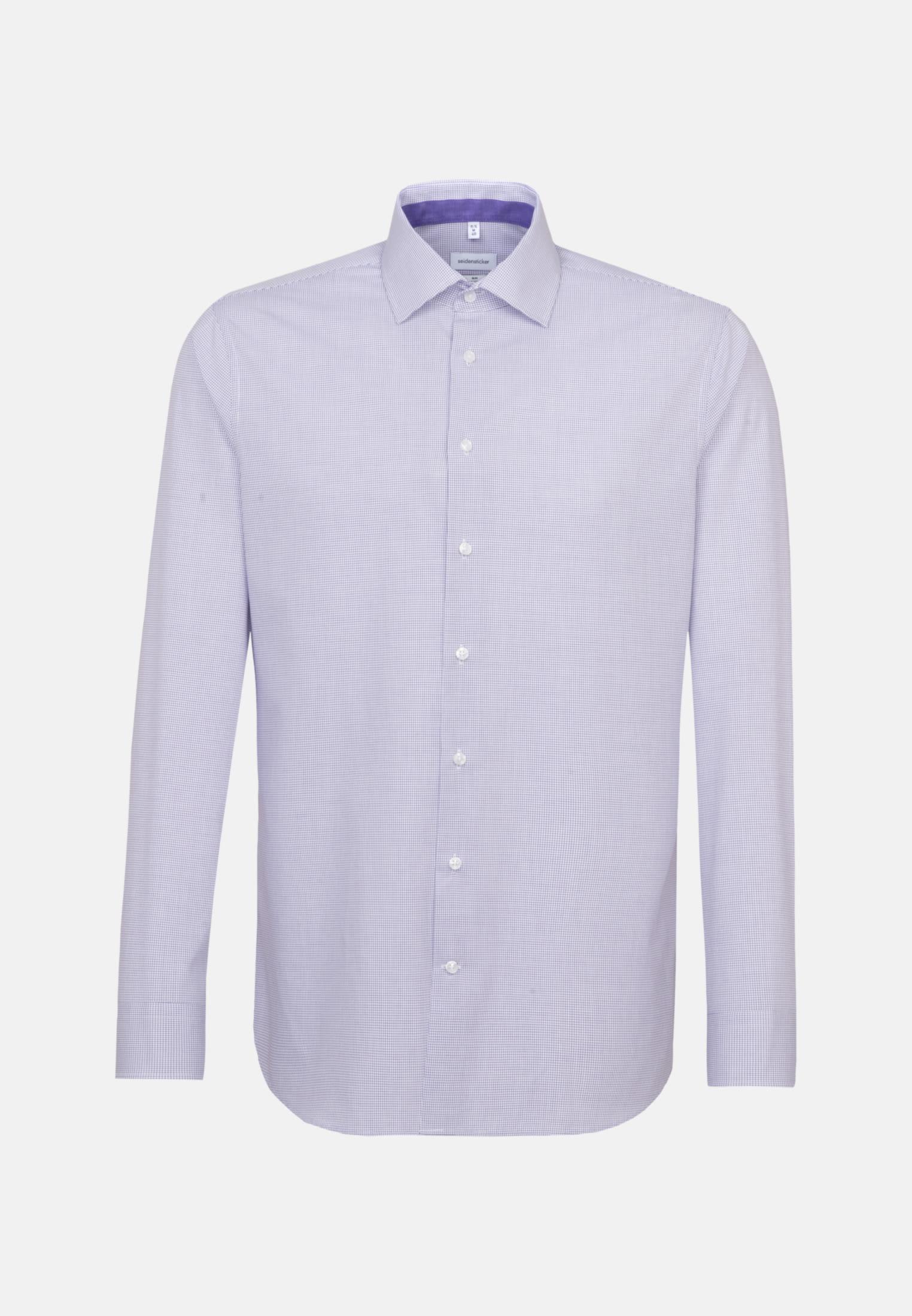 Bügelfreies Popeline Business Hemd in Slim mit Kentkragen in Lila    Seidensticker Onlineshop