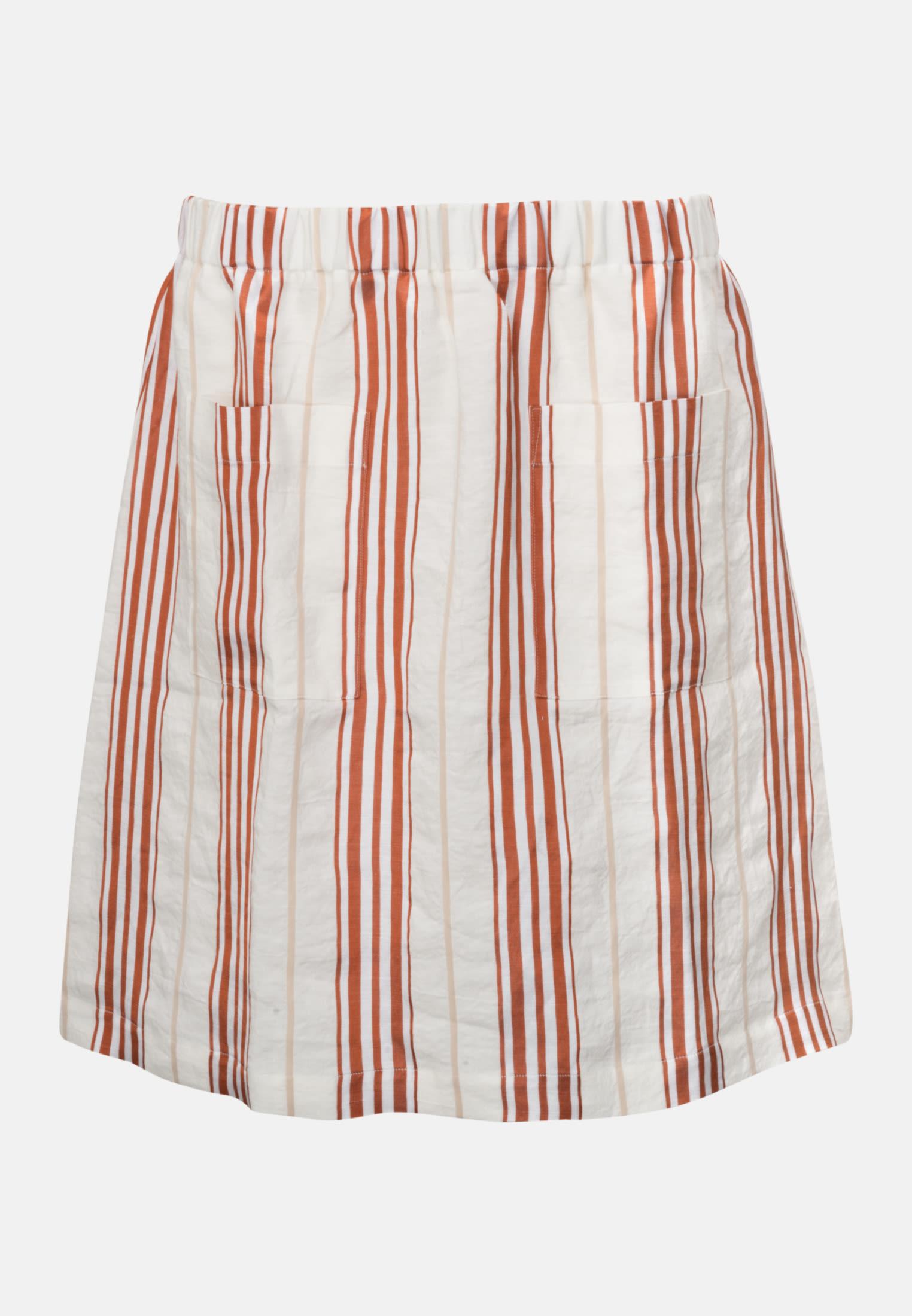Poplin Mini Skirt made of linen blend in Red |  Seidensticker Onlineshop