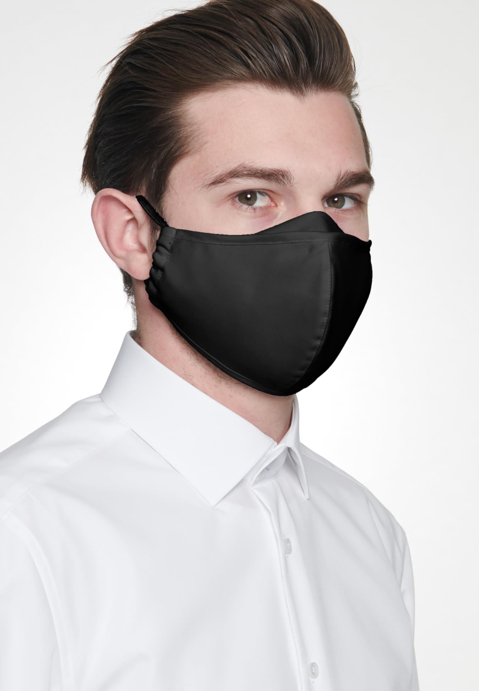 10er-Pack Mund-Nasen-Masken aus 100% Baumwolle in Schwarz |  Seidensticker Onlineshop