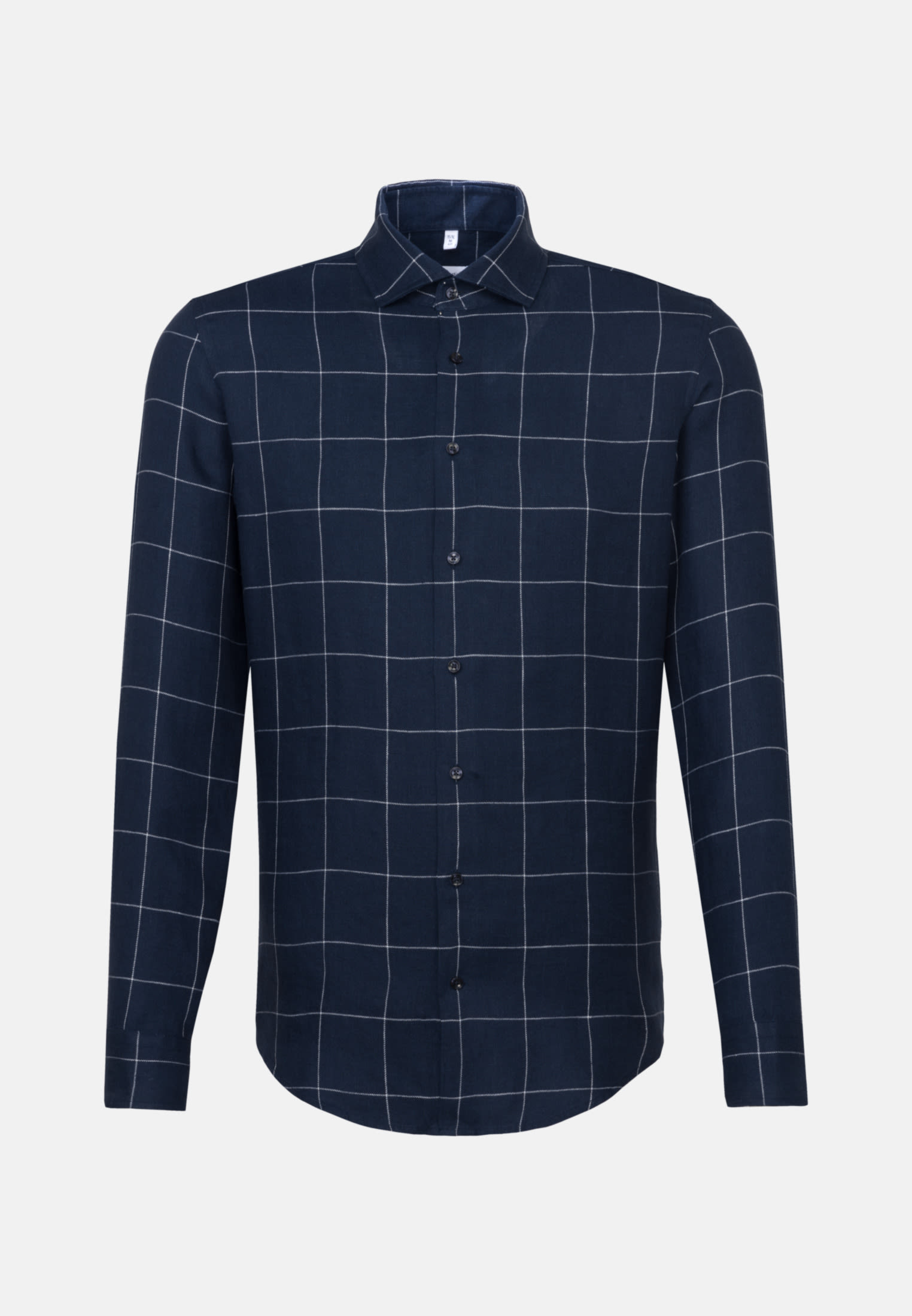 Easy-iron Linen Business Shirt in Slim with Kent-Collar in Dark blue |  Seidensticker Onlineshop