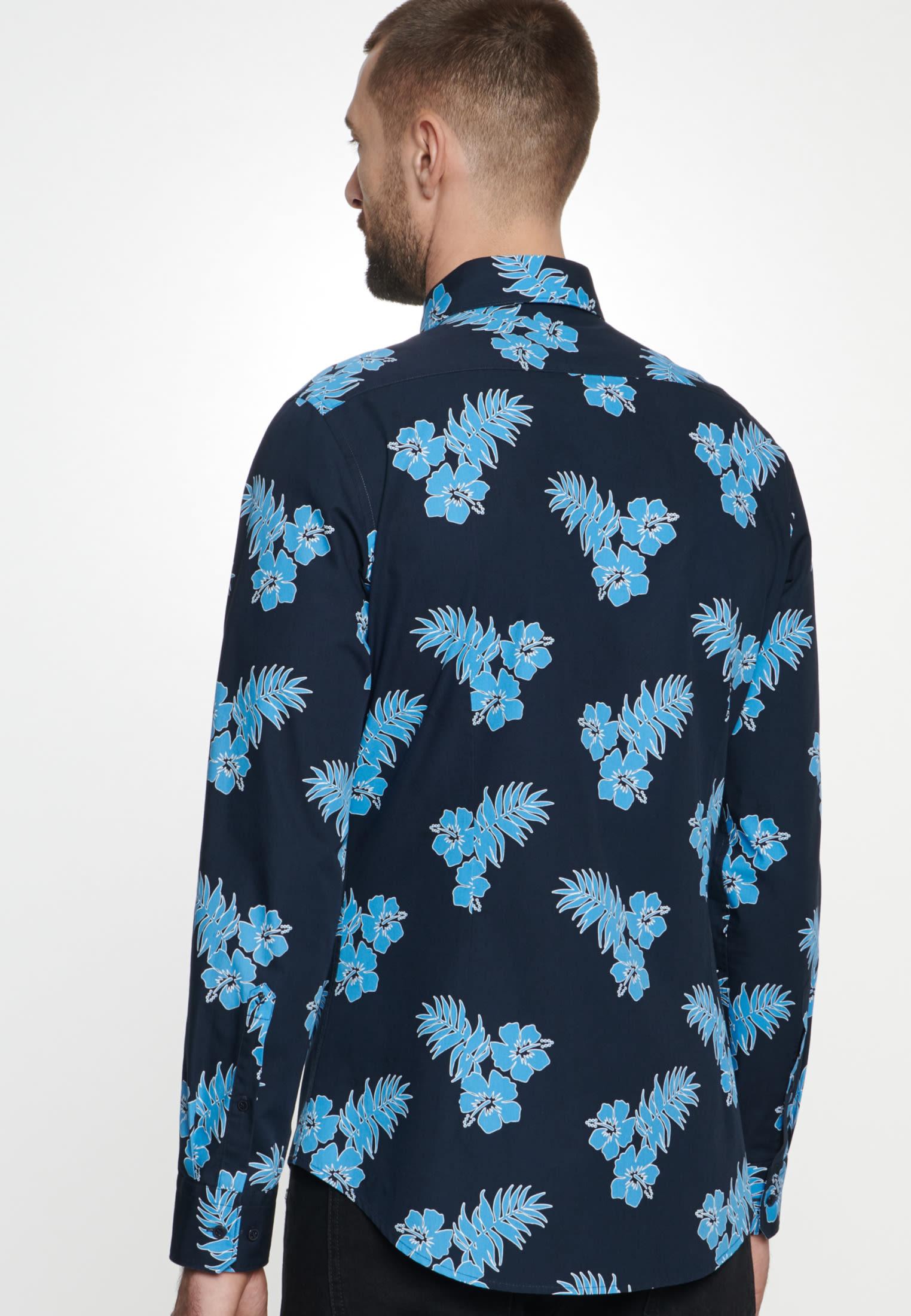 Easy-iron Poplin Business Shirt in Slim with Kent-Collar in Turquoise |  Seidensticker Onlineshop