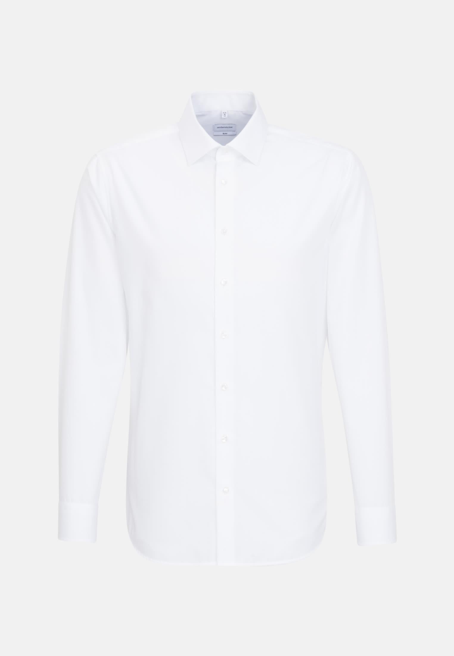 "Non-iron ""together"" Signature-Shirt in Slim with Kent-Collar in White |  Seidensticker Onlineshop"
