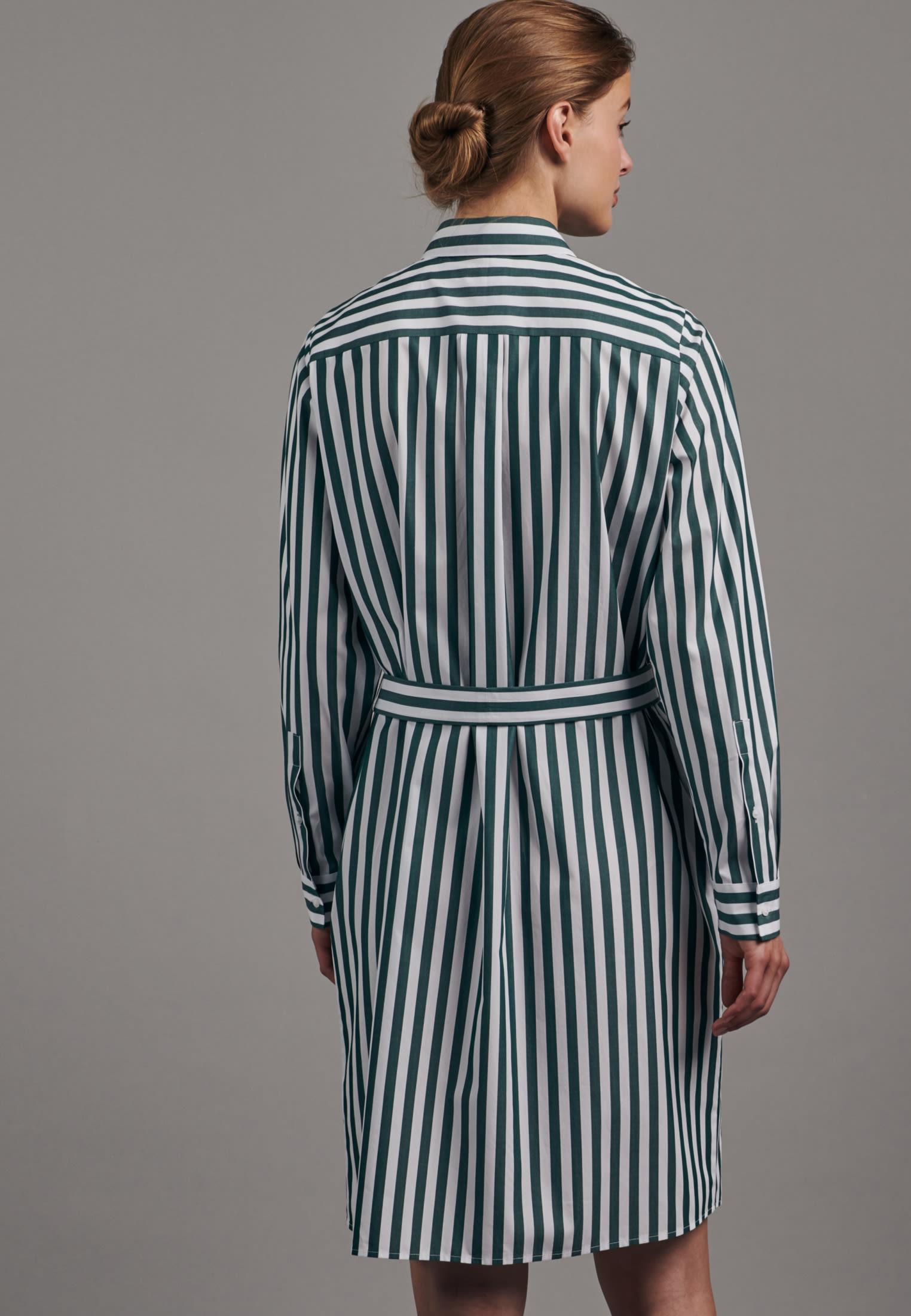 Poplin Midi Dress made of 100% Cotton in Green |  Seidensticker Onlineshop