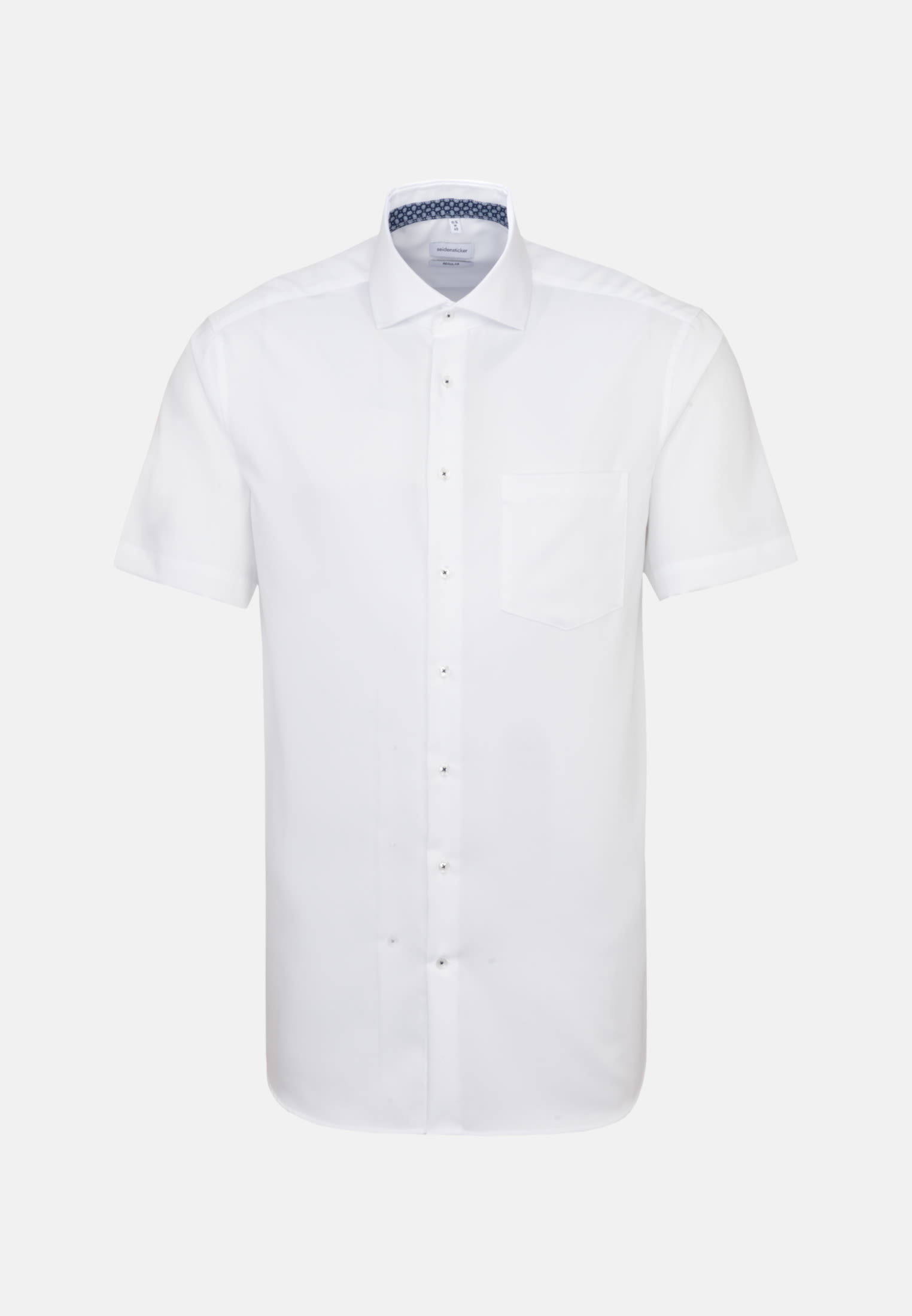 Non-iron Twill Short sleeve Business Shirt in Regular with Kent-Collar in White |  Seidensticker Onlineshop