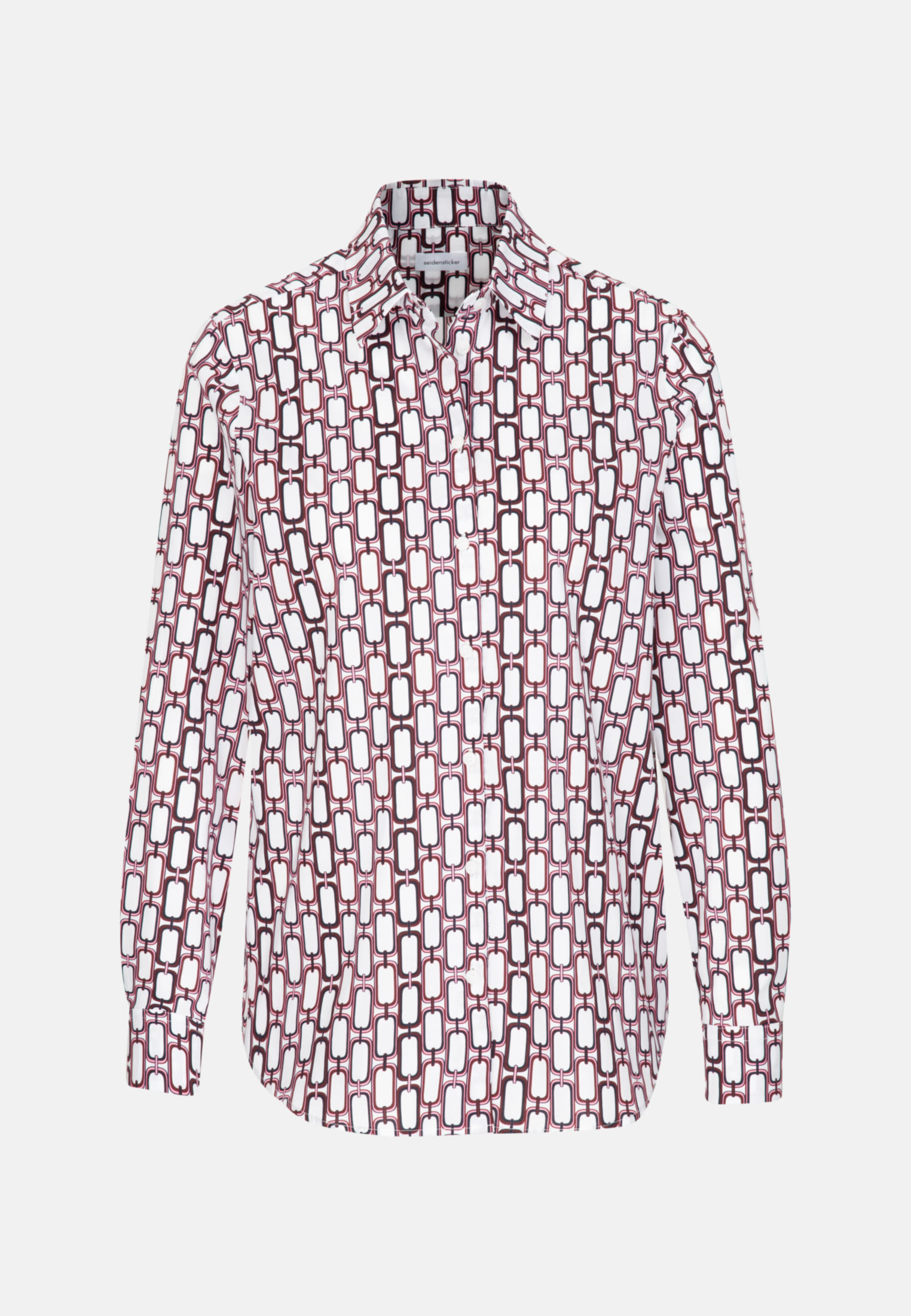 Popeline Hemdbluse aus Baumwollmischung in Rot |  Seidensticker Onlineshop