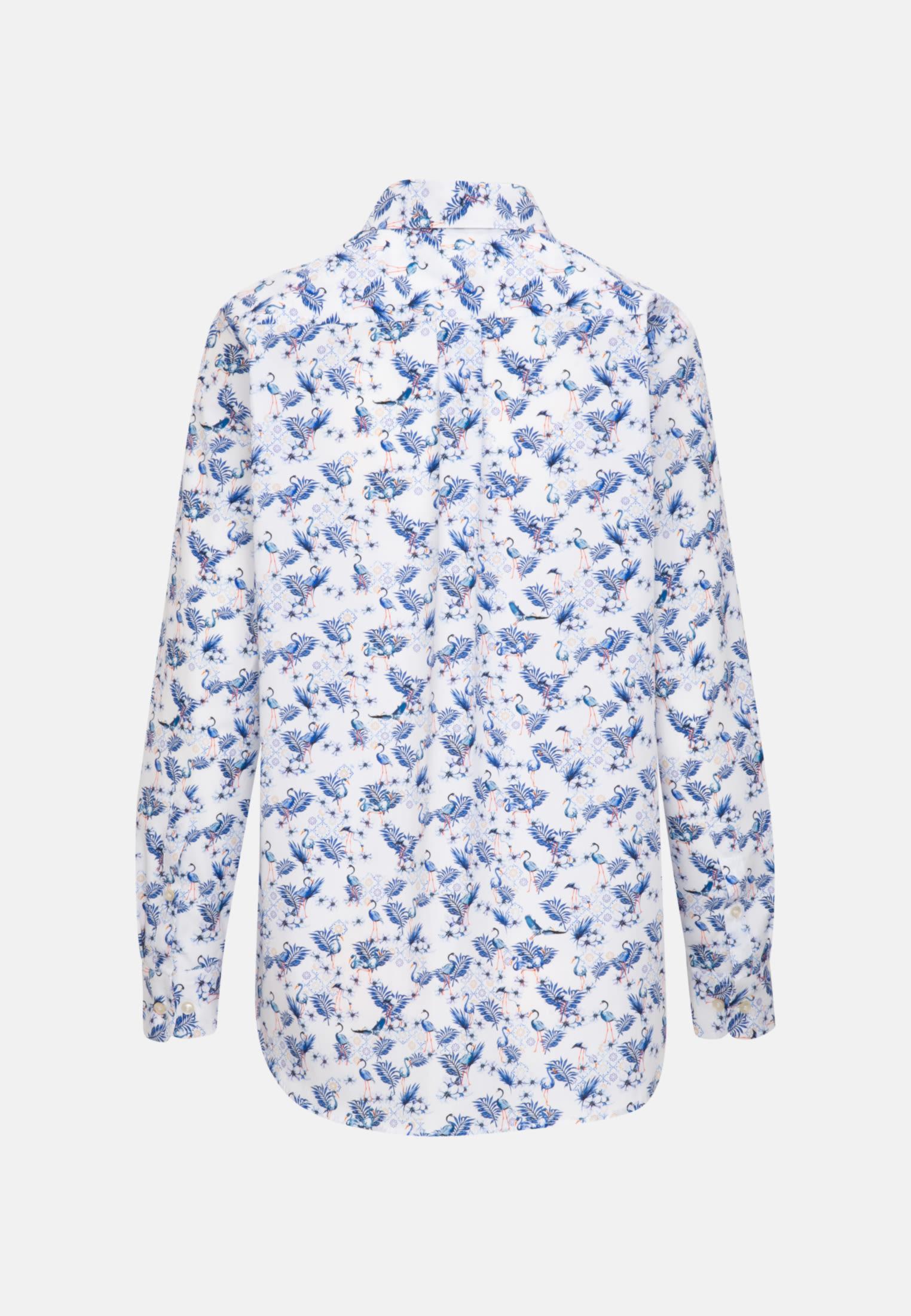 Structure Shirt Blouse made of 100% Cotton in Dark blue |  Seidensticker Onlineshop