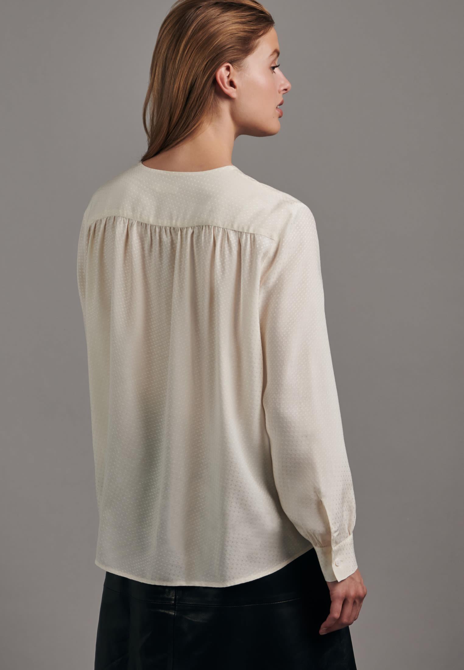 Jacquard Shirtbluse aus 100% Viskose in Ecru    Seidensticker Onlineshop