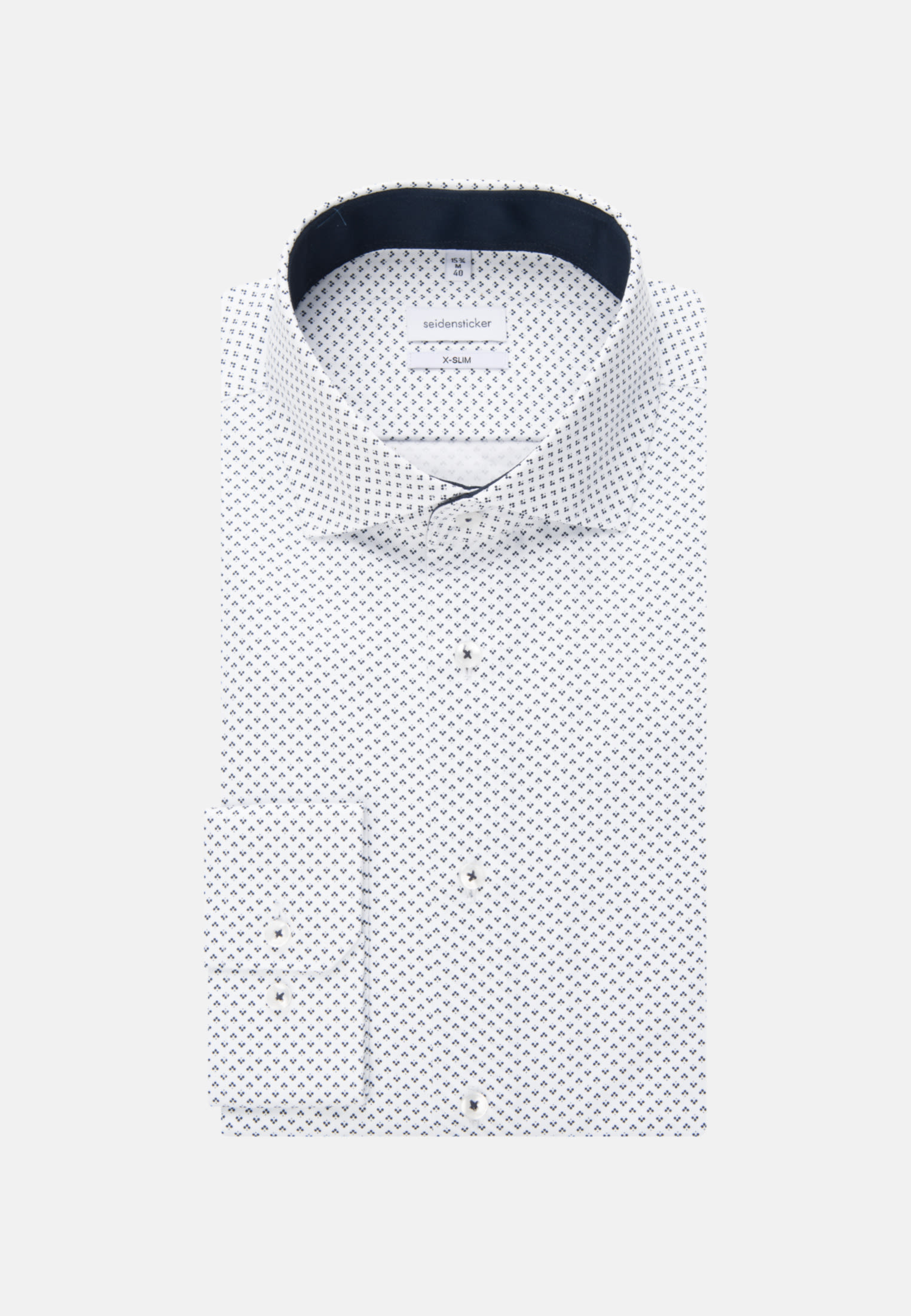 Easy-iron Twill Business Shirt in X-Slim with Kent-Collar in Dark blue |  Seidensticker Onlineshop