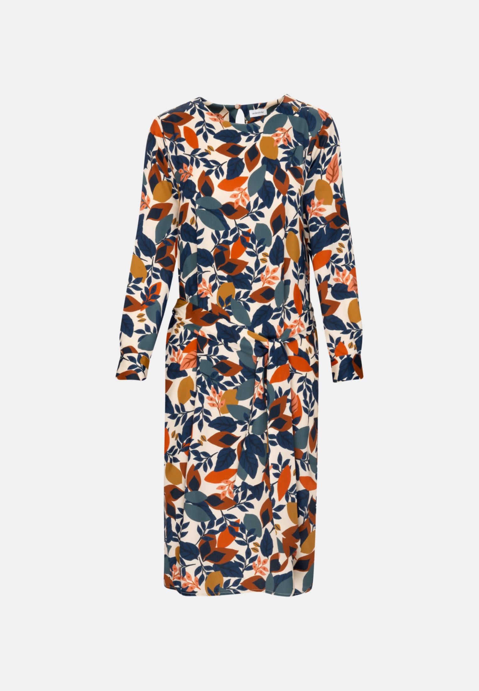 Satin Midi Dress made of 100% Viscose in Ecru |  Seidensticker Onlineshop