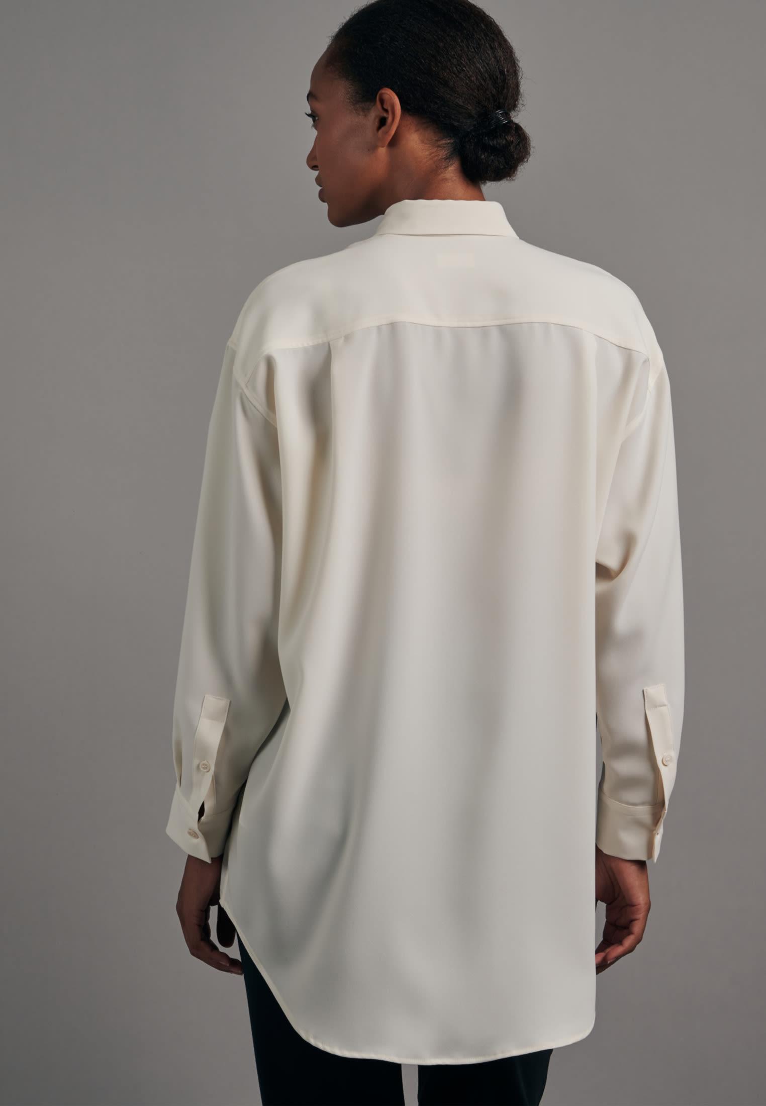 Krepp Longbluse aus 100% Polyester in Ecru    Seidensticker Onlineshop