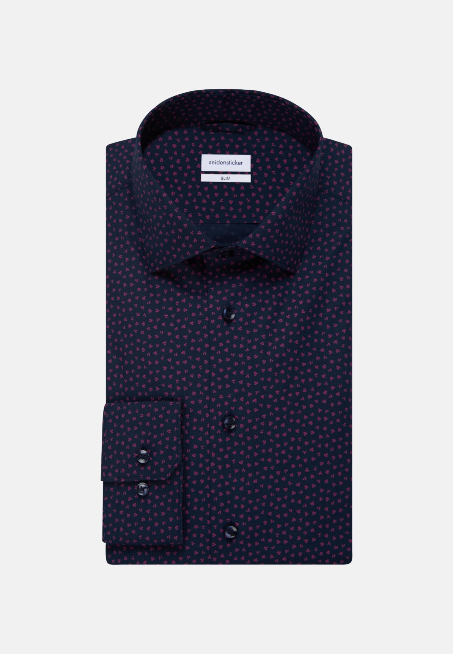 Bügelleichtes Popeline Business Hemd in Slim mit Kentkragen in Rosa/Pink |  Seidensticker Onlineshop