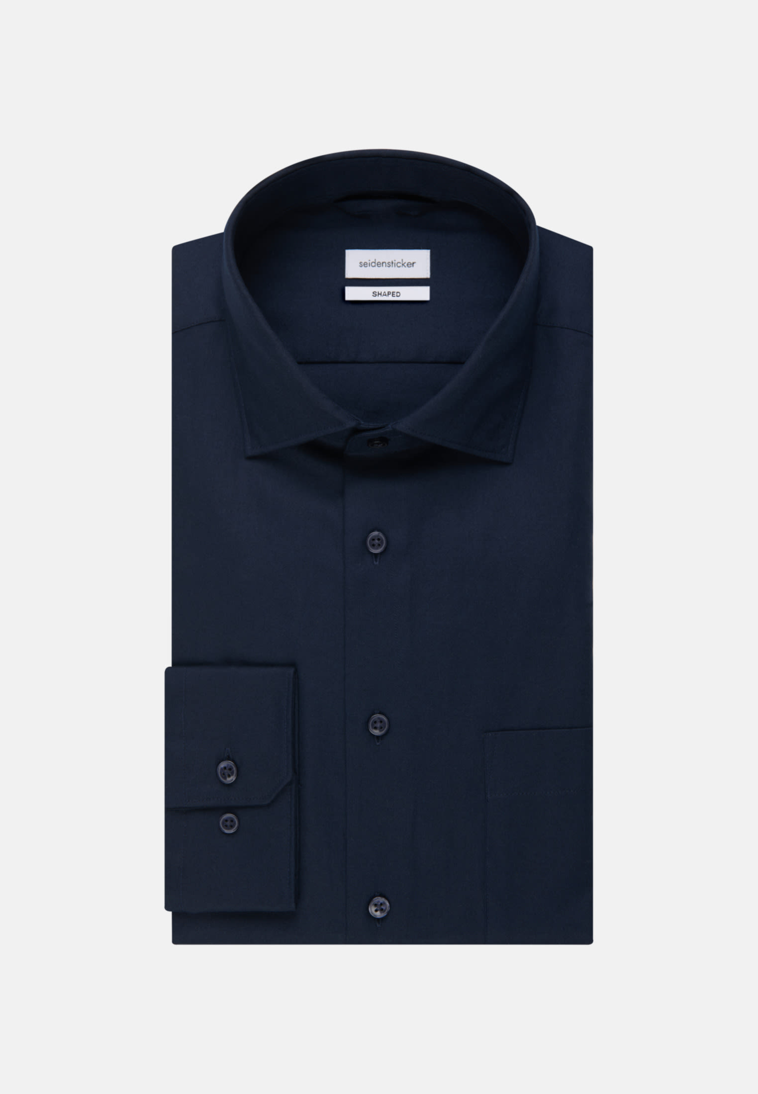 Twill Business Shirt in Shaped with Kent-Collar in Dark blue |  Seidensticker Onlineshop