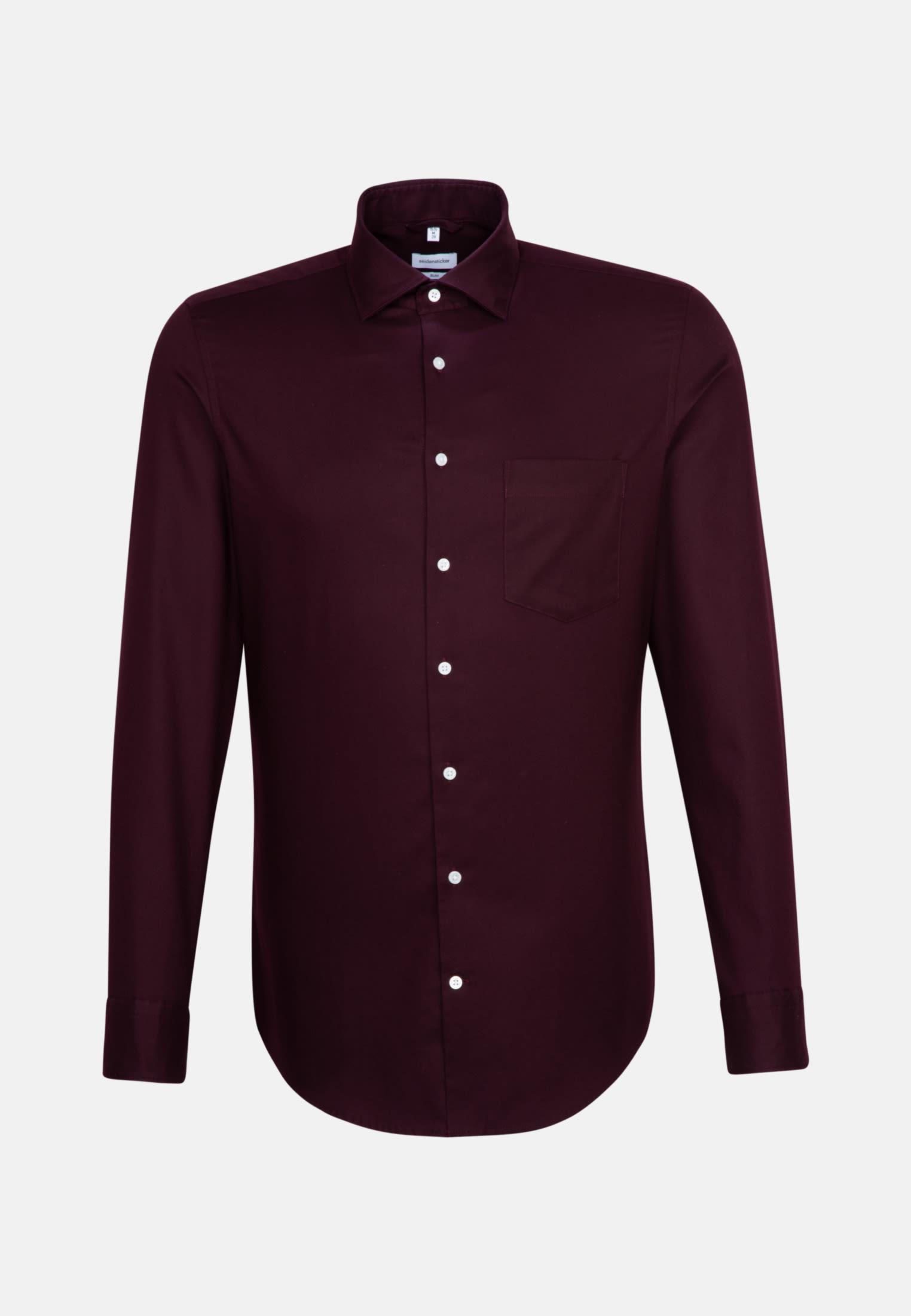 Twill Business Hemd in Slim mit Kentkragen in Rot    Seidensticker Onlineshop