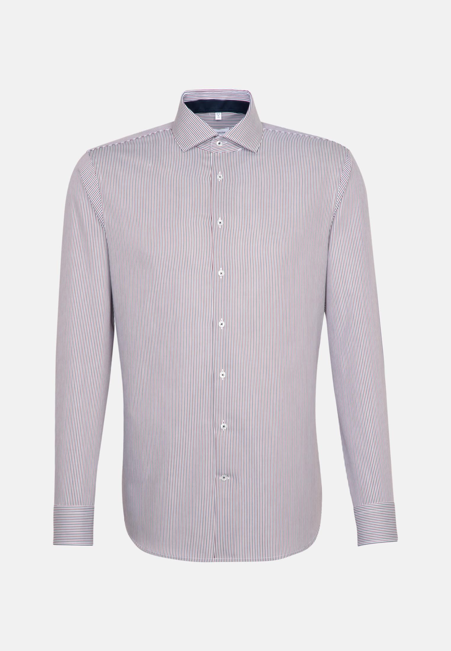 Non-iron Twill Business Shirt in Slim with Kent-Collar in Red    Seidensticker Onlineshop