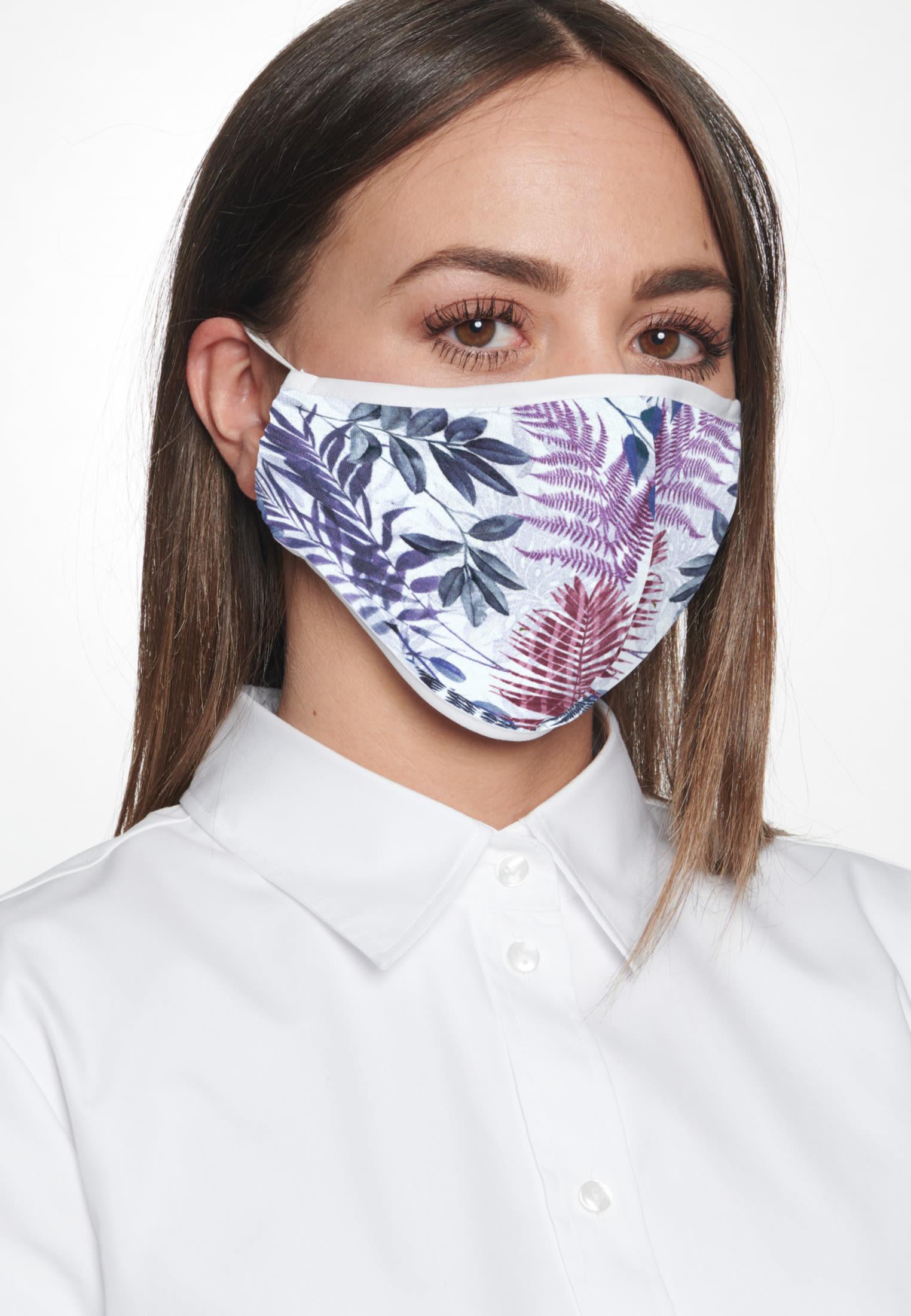10er-Pack Mund-Nasen-Masken aus 100% Baumwolle in Rosa/Pink    Seidensticker Onlineshop