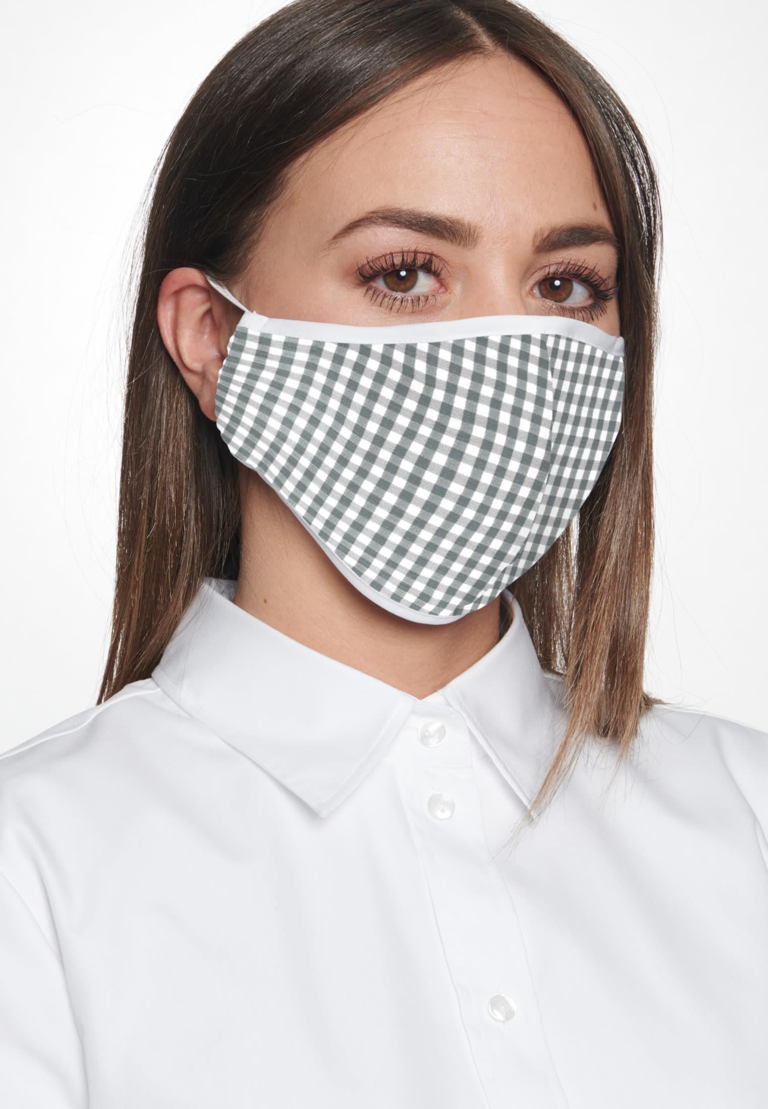 10er-Pack Mund-Nasen-Masken aus 100% Baumwolle in Grau    Seidensticker Onlineshop