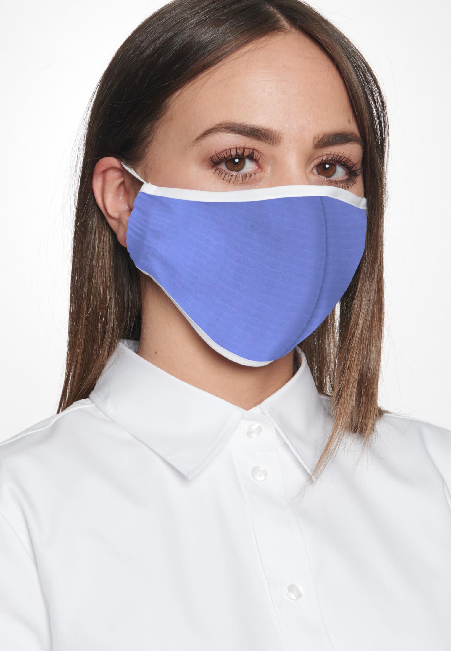 10er-Pack Mund-Nasen-Masken aus 100% Baumwolle in Hellblau |  Seidensticker Onlineshop