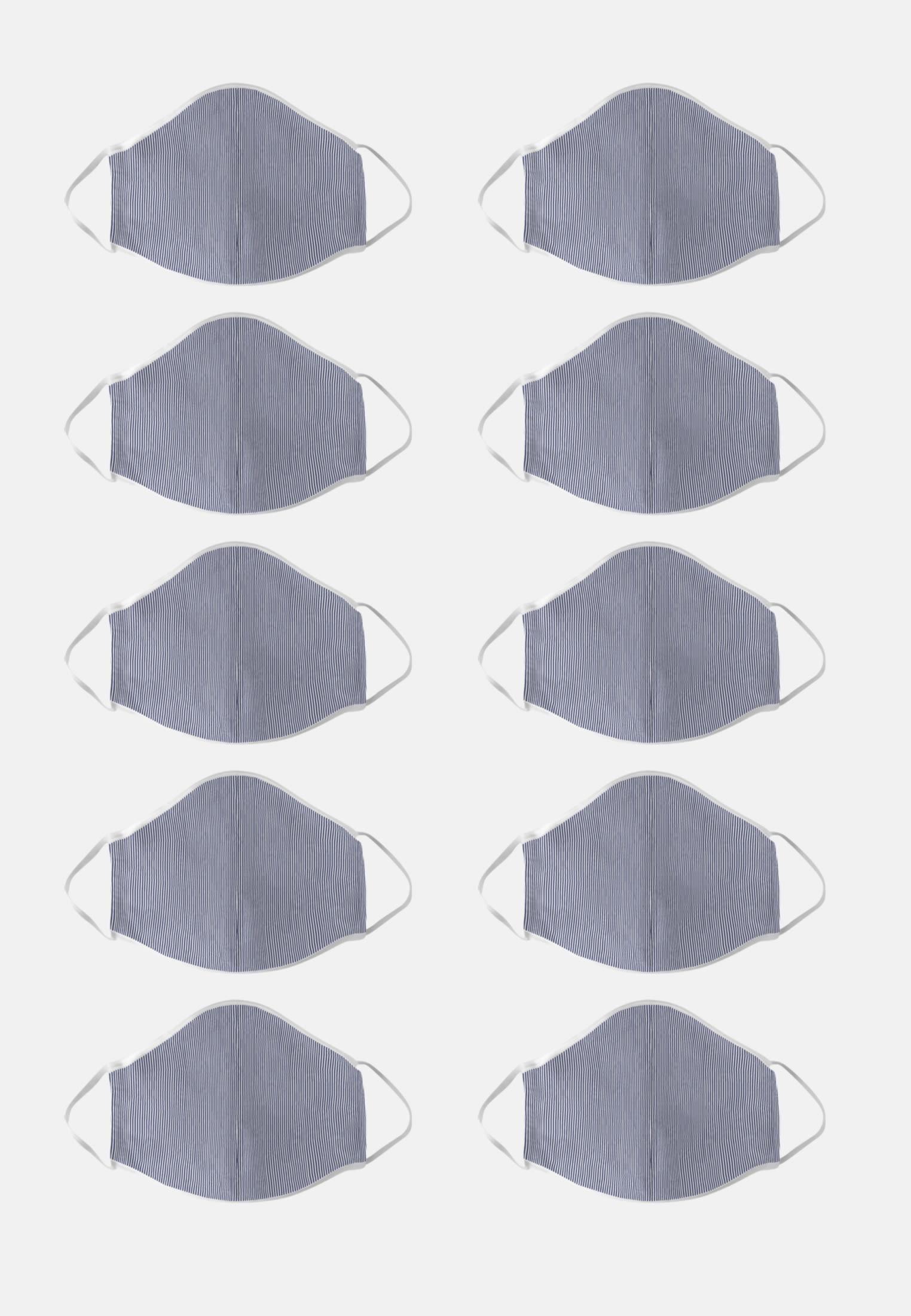 10er-Pack Mund-Nasen-Masken aus 100% Baumwolle in Lila |  Seidensticker Onlineshop
