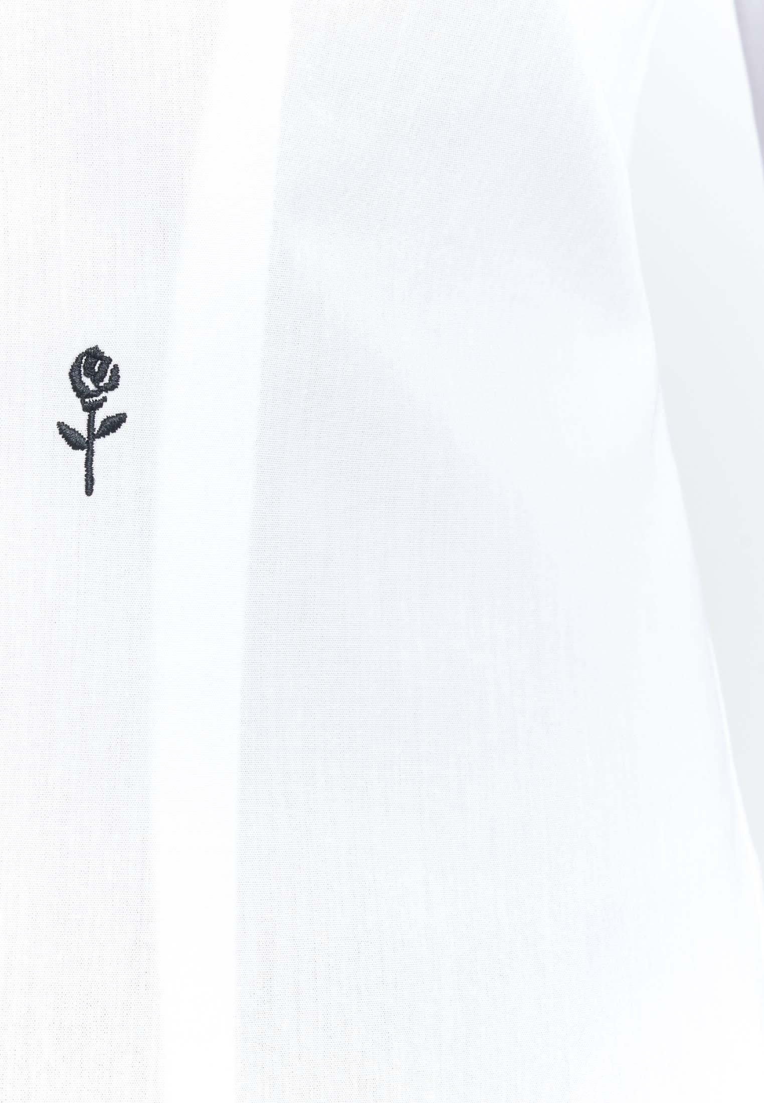 Bügelfreie Popeline Kelchkragenbluse aus 100% Baumwolle in Weiß |  Seidensticker Onlineshop