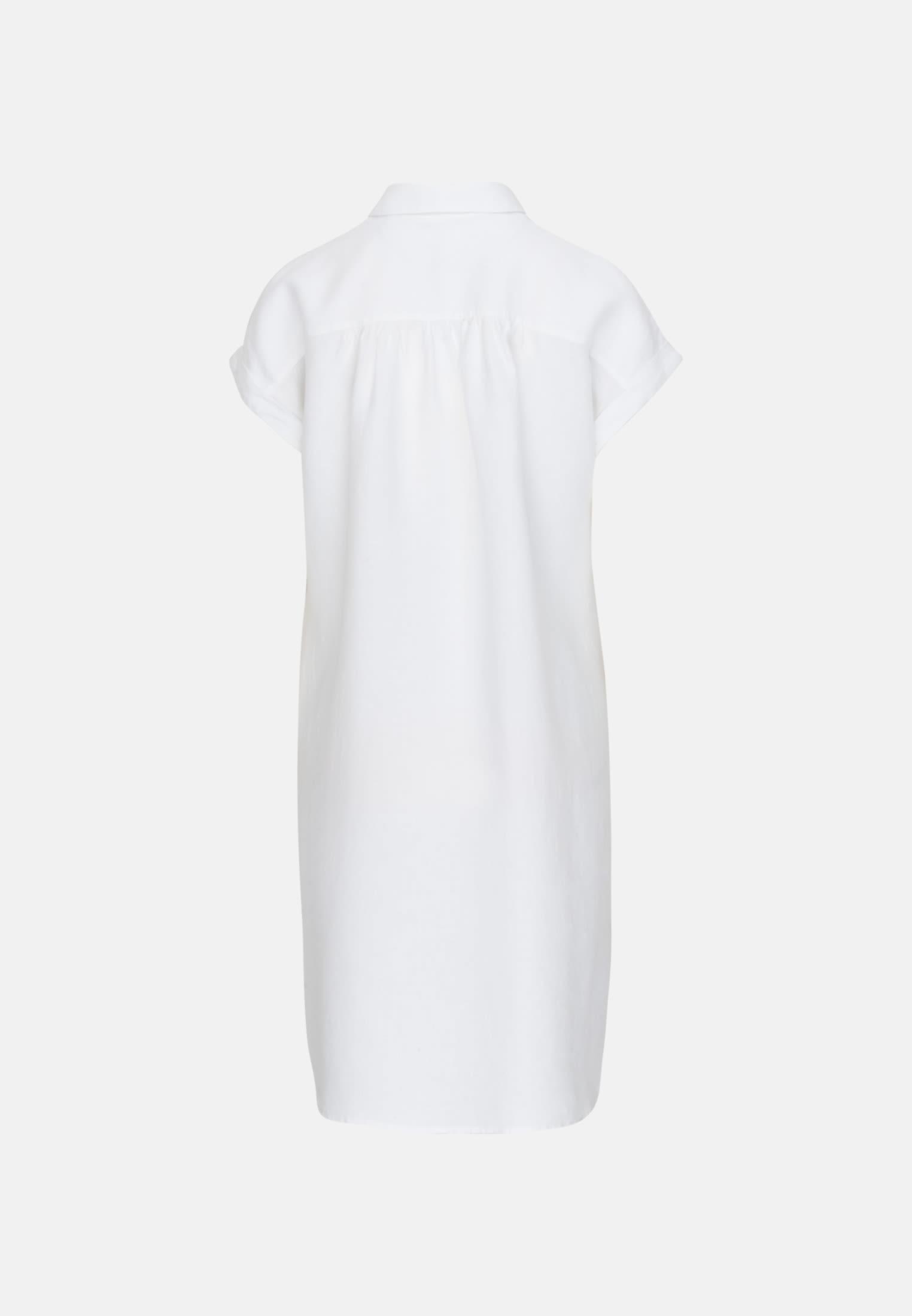 Sleeveless Linen Midi Dress made of 100% Linen in White |  Seidensticker Onlineshop
