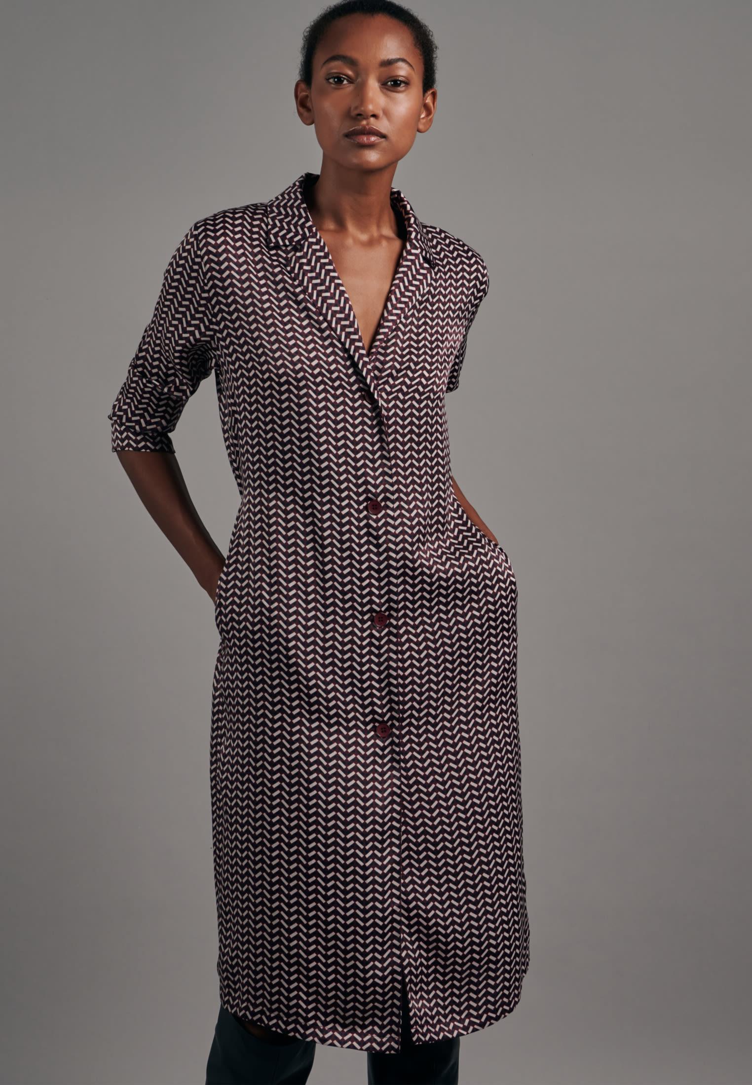 Satin Midi Kleid aus 100% Polyester in Rot |  Seidensticker Onlineshop