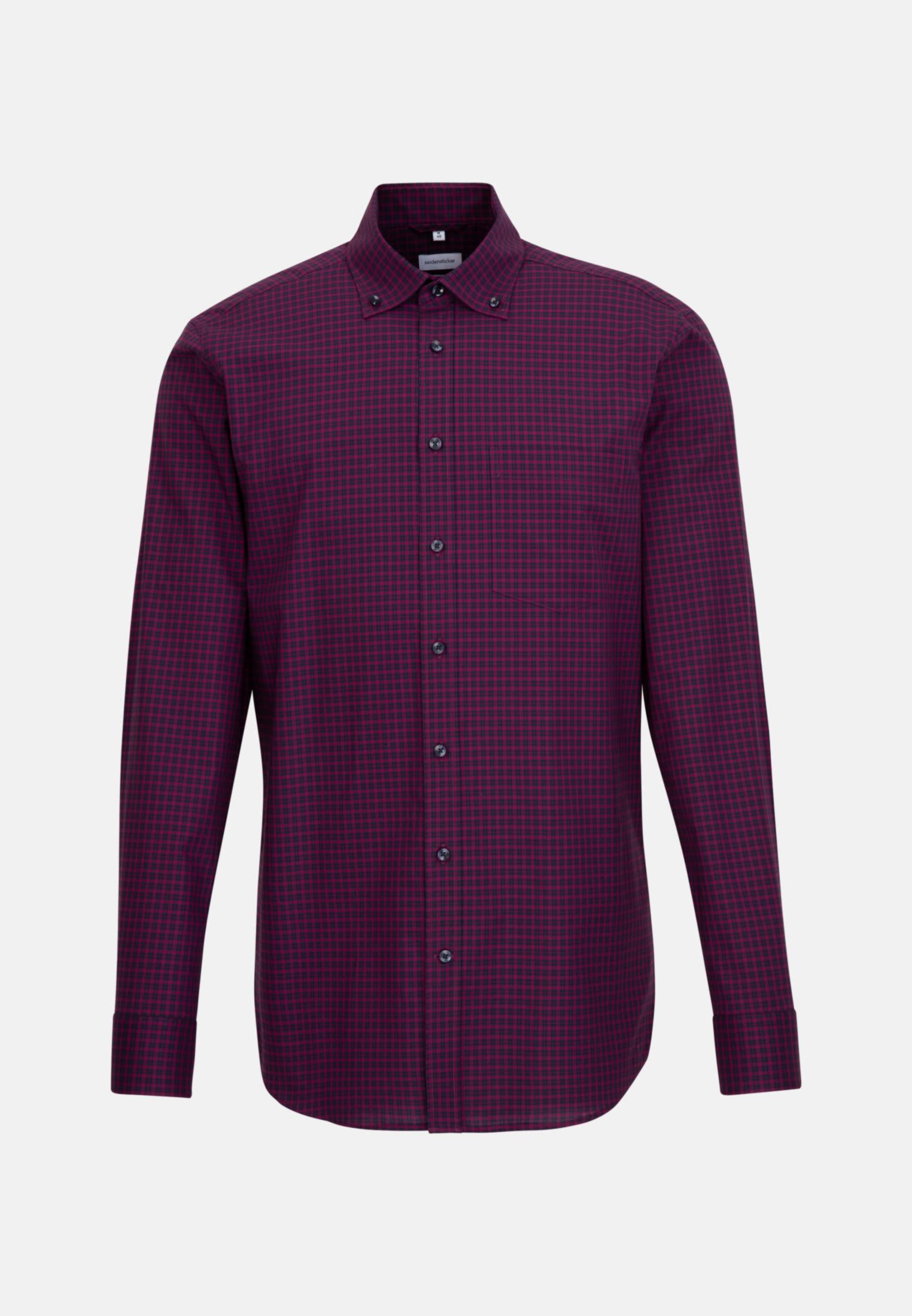 Non-iron Poplin Business Shirt in Regular with Button-Down-Collar in Pink |  Seidensticker Onlineshop