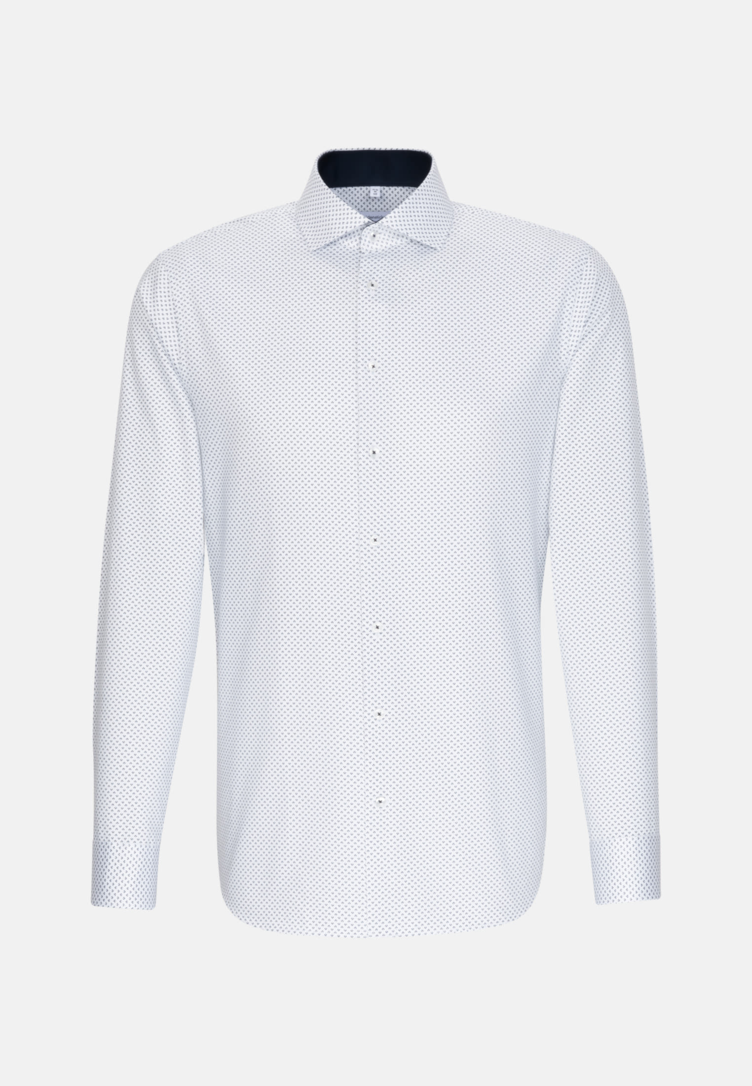 Easy-iron Twill Business Shirt in X-Slim with Kent-Collar and extra long sleeve in Dark blue |  Seidensticker Onlineshop