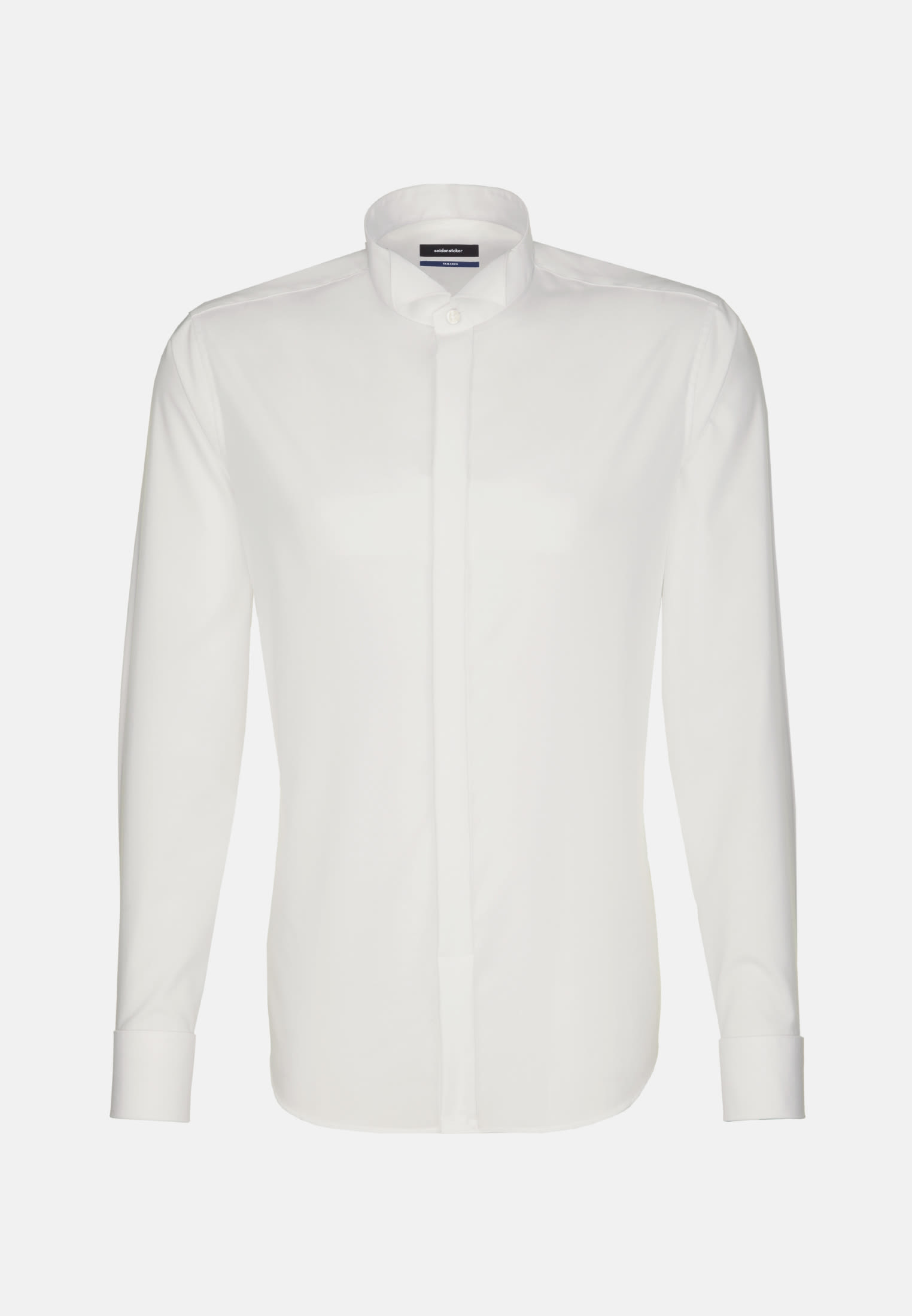 Non-iron Poplin Gala Shirt in Shaped with Wing Collar in Ecru |  Seidensticker Onlineshop