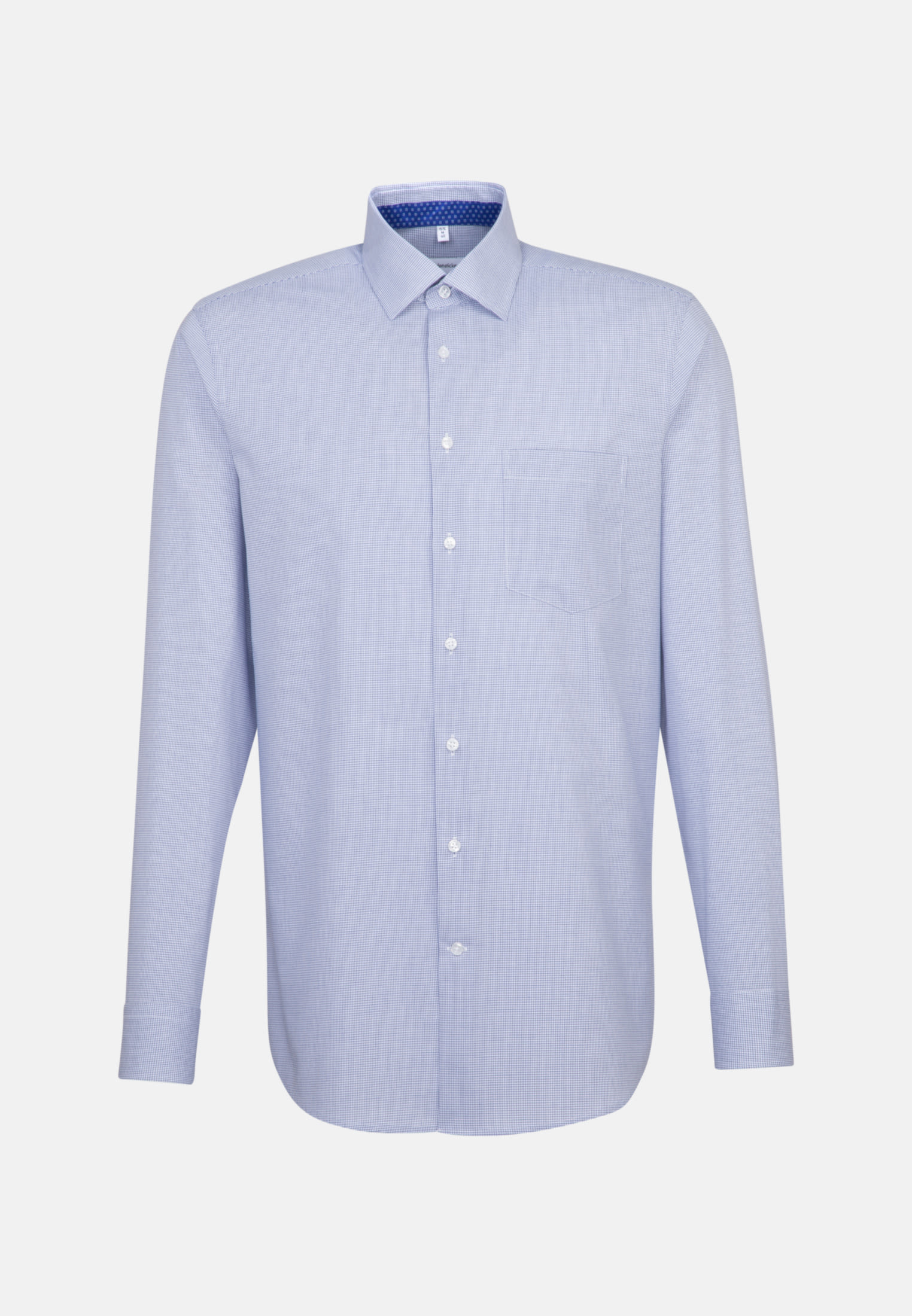 Non-iron Poplin Business Shirt in Regular with Kent-Collar in Medium blue |  Seidensticker Onlineshop