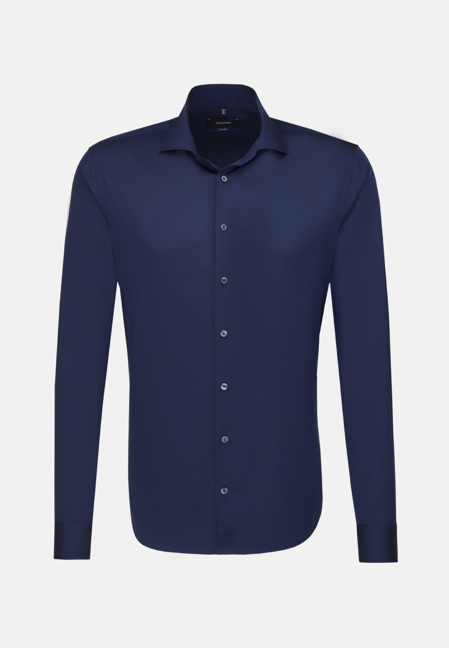 Non-iron Fil a fil Business Shirt in Tailored with Kent-Collar in Dark blue |  Seidensticker Onlineshop