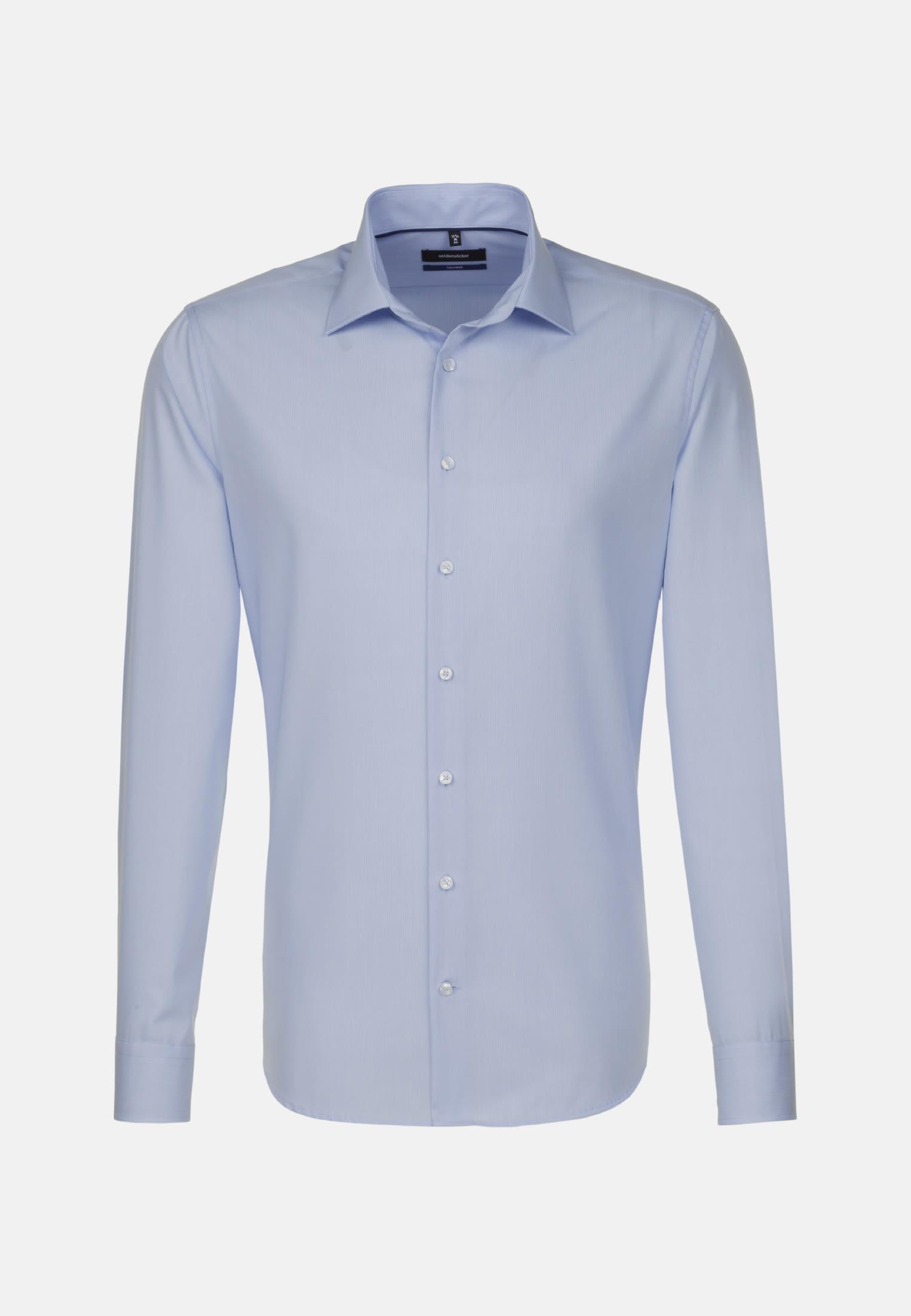 Non-iron Poplin Business Shirt in Tailored with Kent-Collar in Light blue    Seidensticker Onlineshop