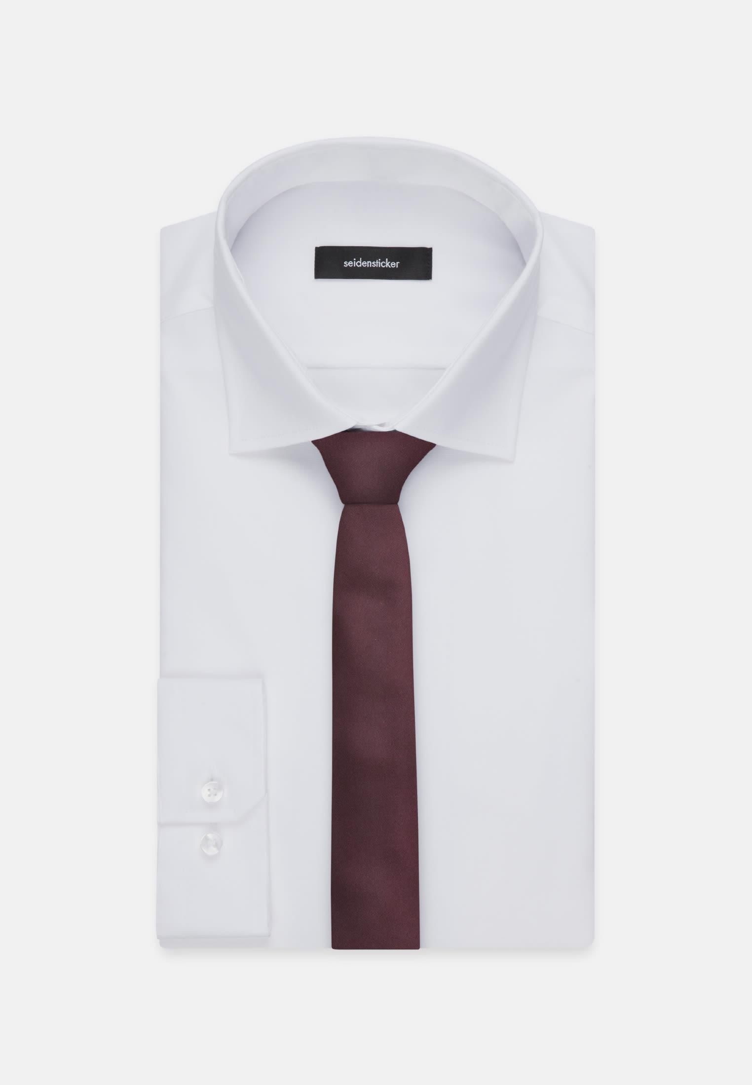 Tie made of 100% Silk 5 cm wide in Red |  Seidensticker Onlineshop