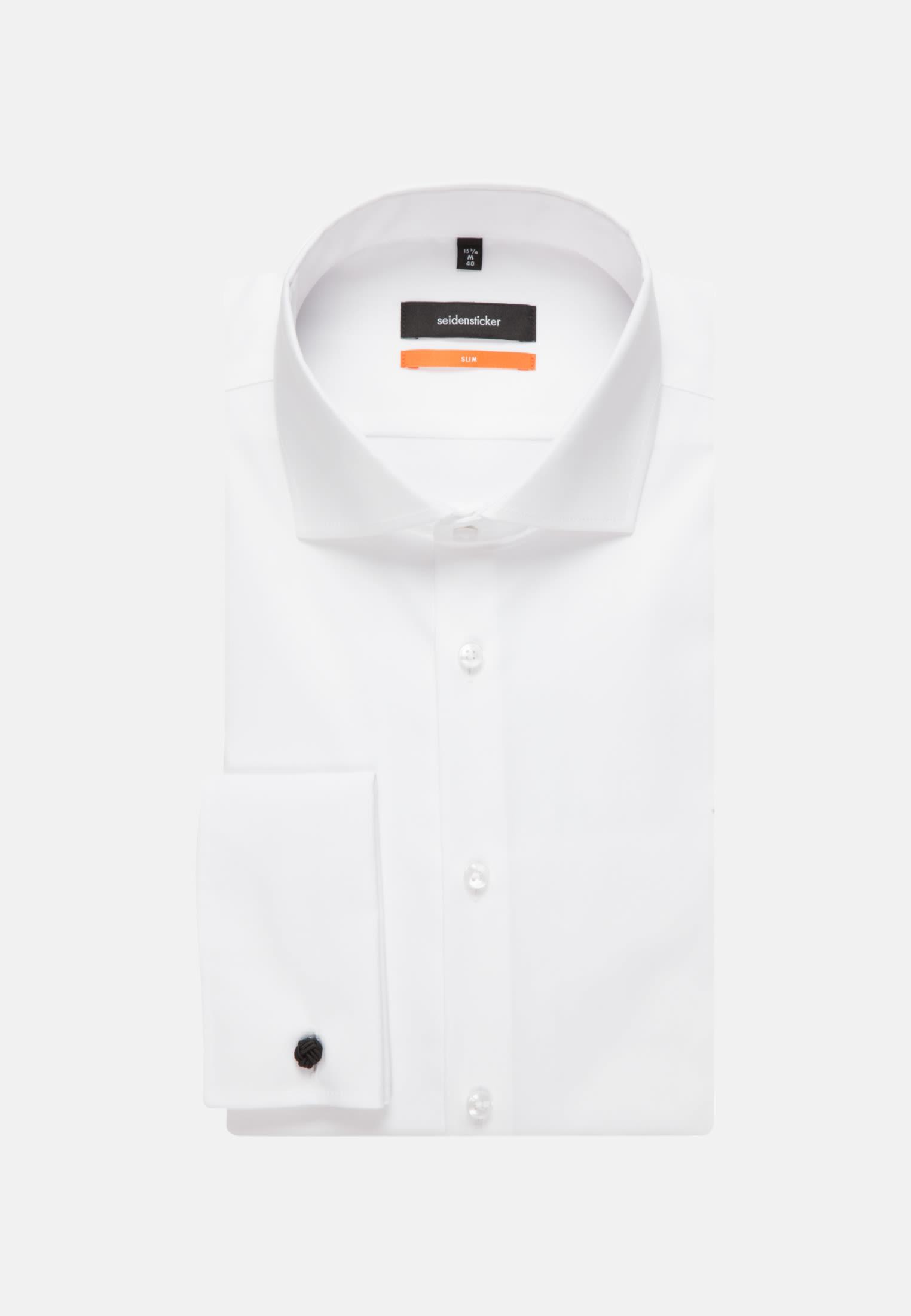 Non-iron Poplin Business Shirt in Slim with Kent-Collar in weiß |  Seidensticker Onlineshop
