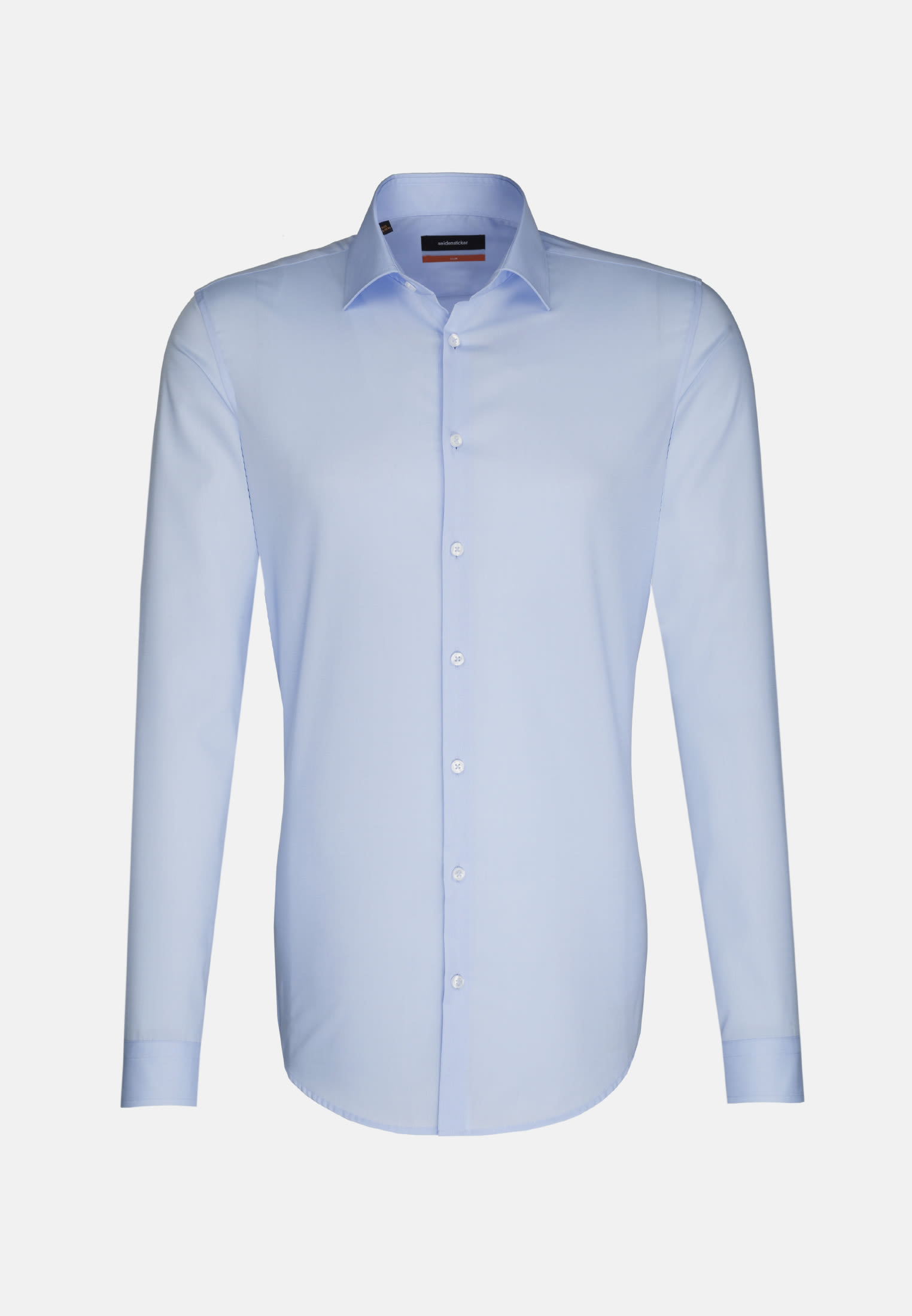 Non-iron Poplin Business Shirt in Slim with Kent-Collar and extra long sleeve in Hellblau |  Seidensticker Onlineshop