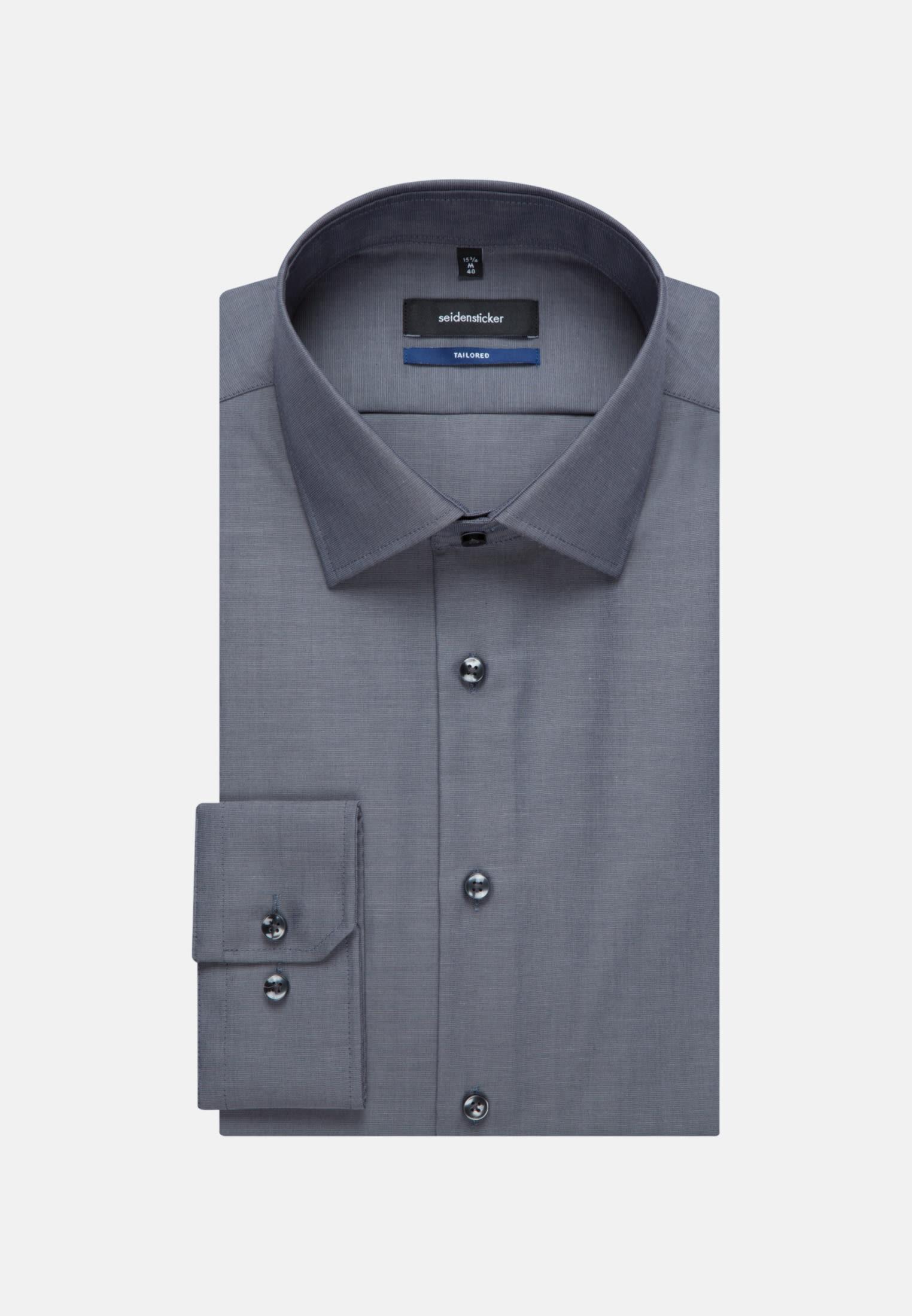 Bügelfreies Fil a fil Business Hemd in Shaped mit Kentkragen in Grau |  Seidensticker Onlineshop