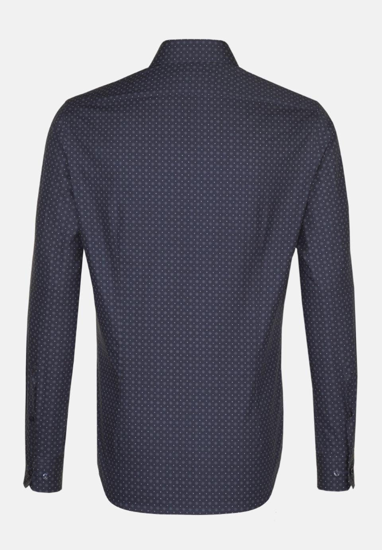 Easy-iron Poplin Business Shirt in Slim with Kent-Collar in Dark blue    Seidensticker Onlineshop