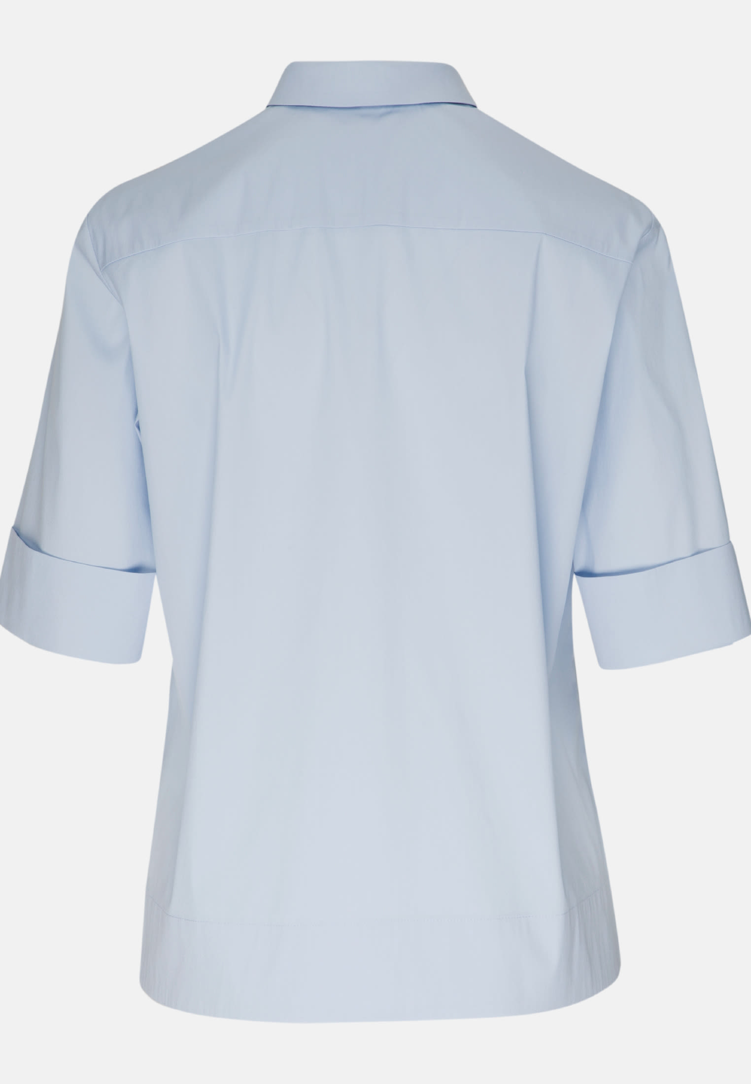 Short sleeve Poplin Shirt Blouse made of cotton blend in Light blue |  Seidensticker Onlineshop