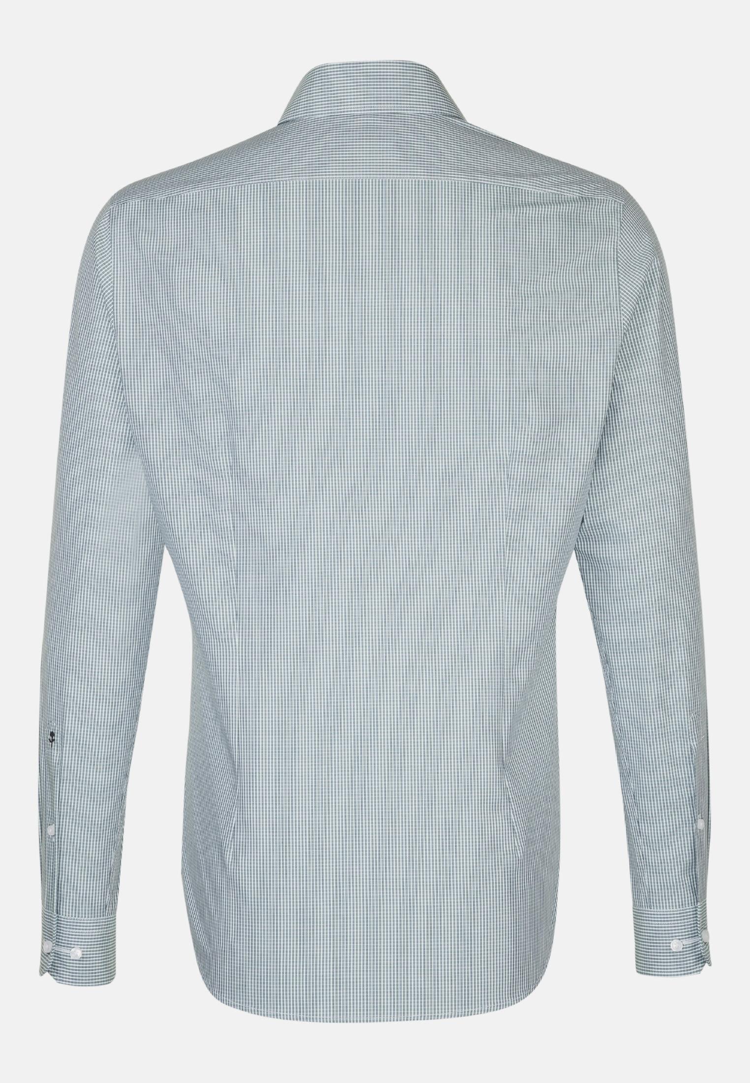 Non-iron Poplin Business Shirt in Slim with Kent-Collar in Green |  Seidensticker Onlineshop