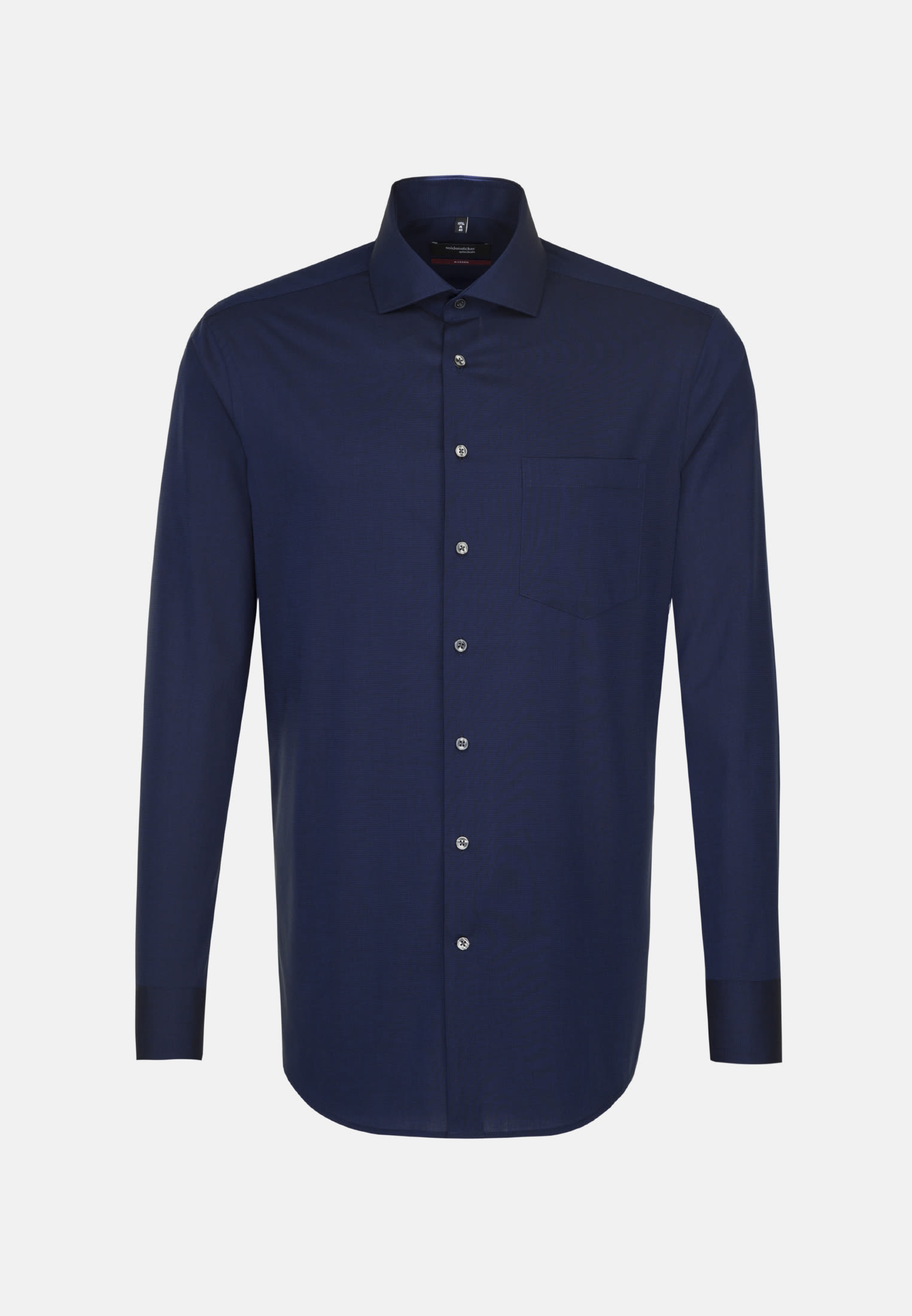 Non-iron Fil a fil Business Shirt in Regular with Kent-Collar in Dark blue |  Seidensticker Onlineshop