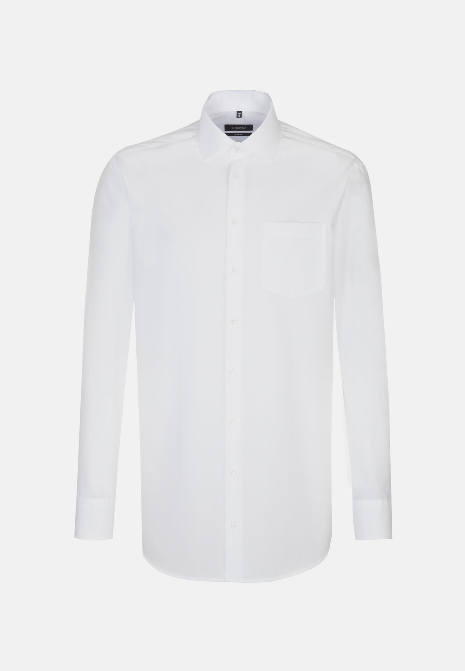 Non-iron Poplin Business Shirt in Comfort with Kent-Collar and extra long arm in White |  Seidensticker Onlineshop