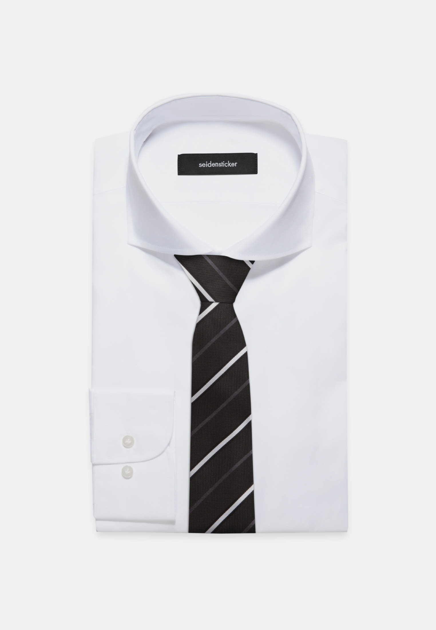 Tie made of 100% Silk 7 cm wide in Black |  Seidensticker Onlineshop