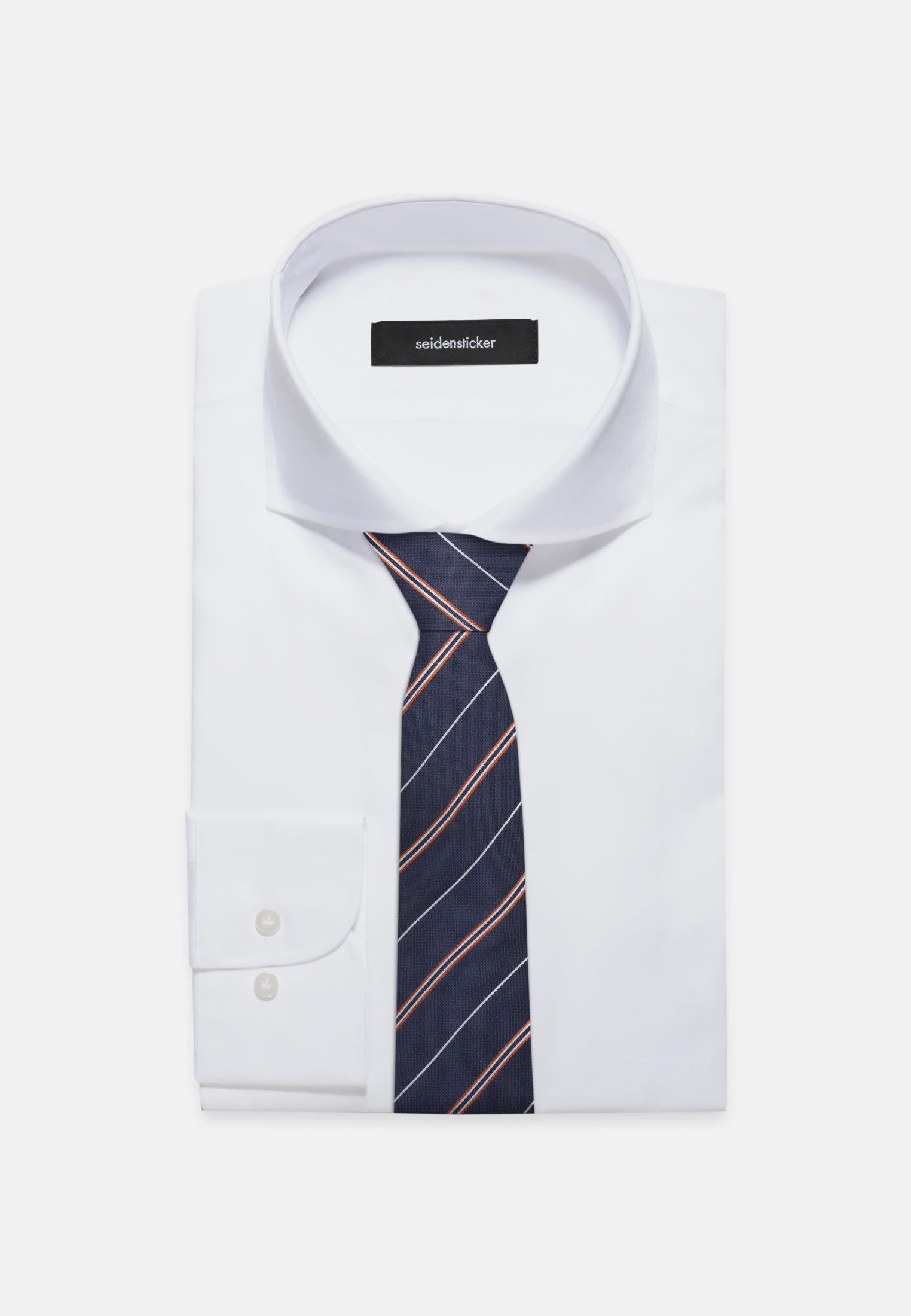 Tie made of 100% Silk 7 cm wide in orange |  Seidensticker Onlineshop