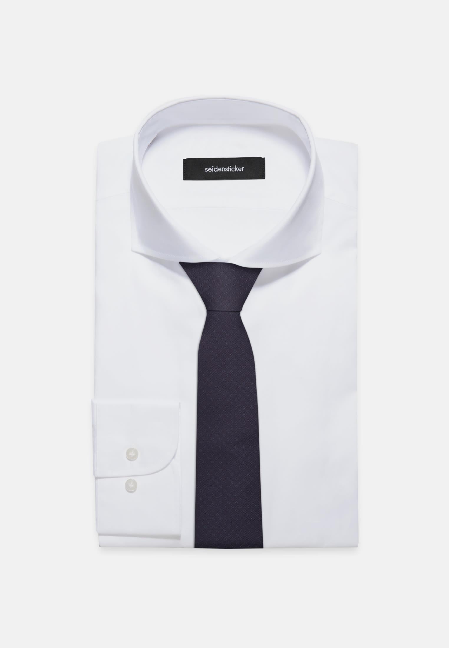 Tie made of 100% Cotton 7 cm wide in Dark blue |  Seidensticker Onlineshop