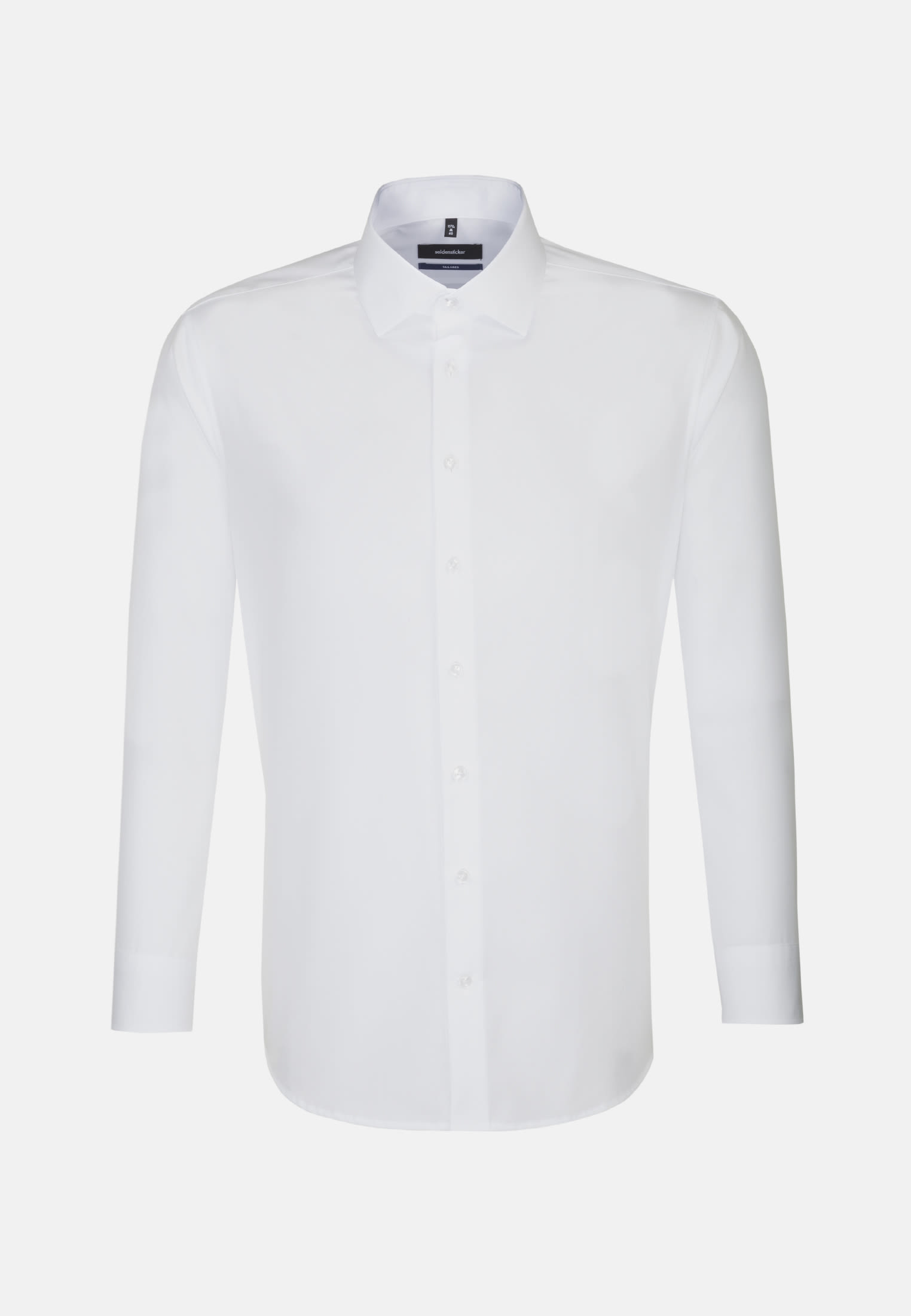 Non-iron Poplin Business Shirt in Tailored with Kent-Collar and extra short arm in White |  Seidensticker Onlineshop
