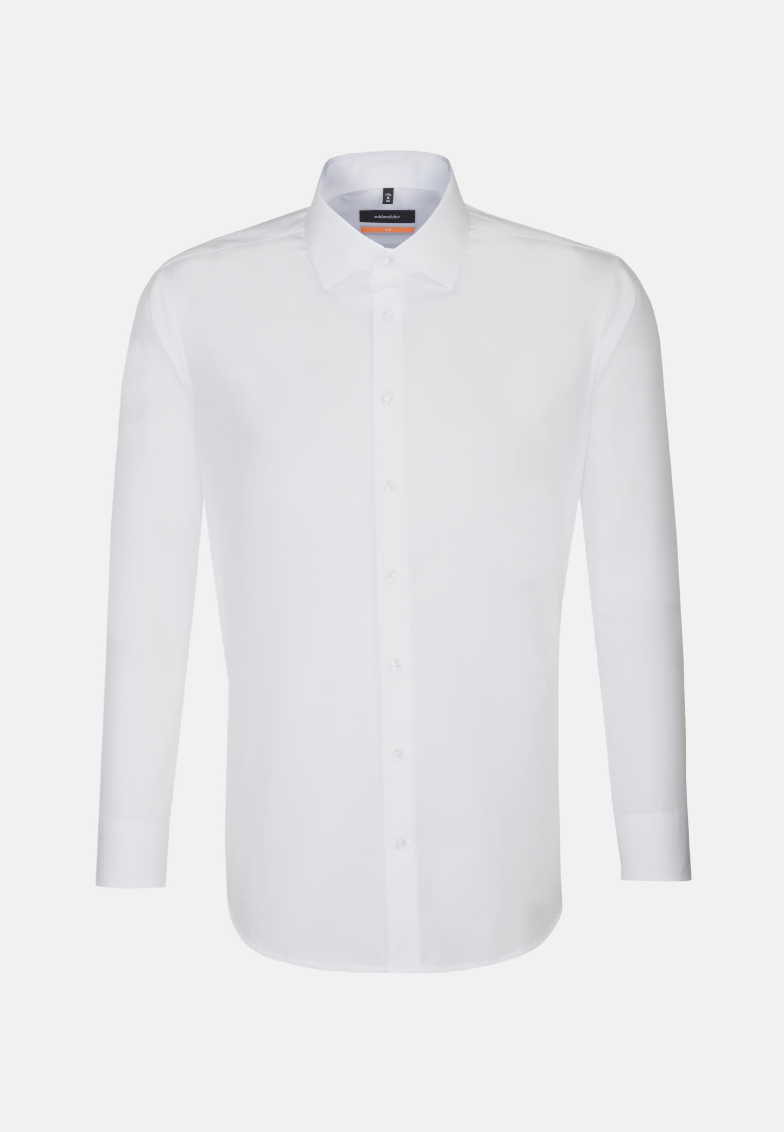 Non-iron Poplin Business Shirt in Slim with Kent-Collar and extra short sleeve in White |  Seidensticker Onlineshop