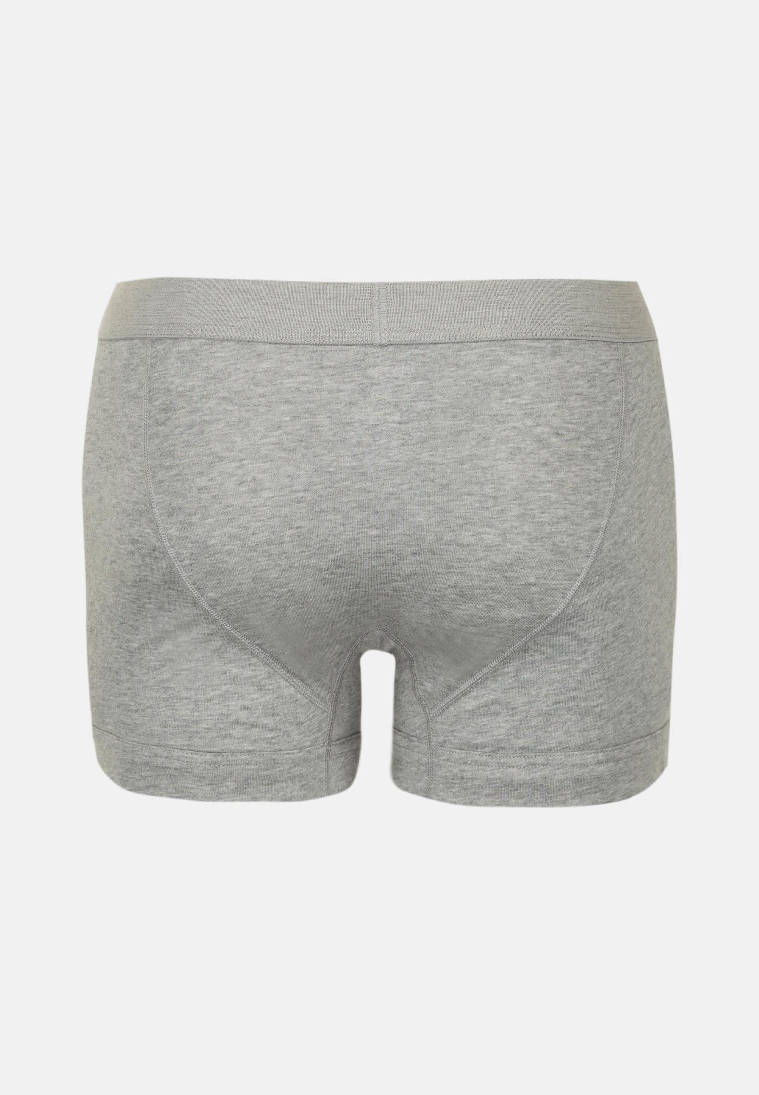 2er-Pack Boxershorts aus 95% Baumwolle 5% Elastan in Grau |  Seidensticker Onlineshop